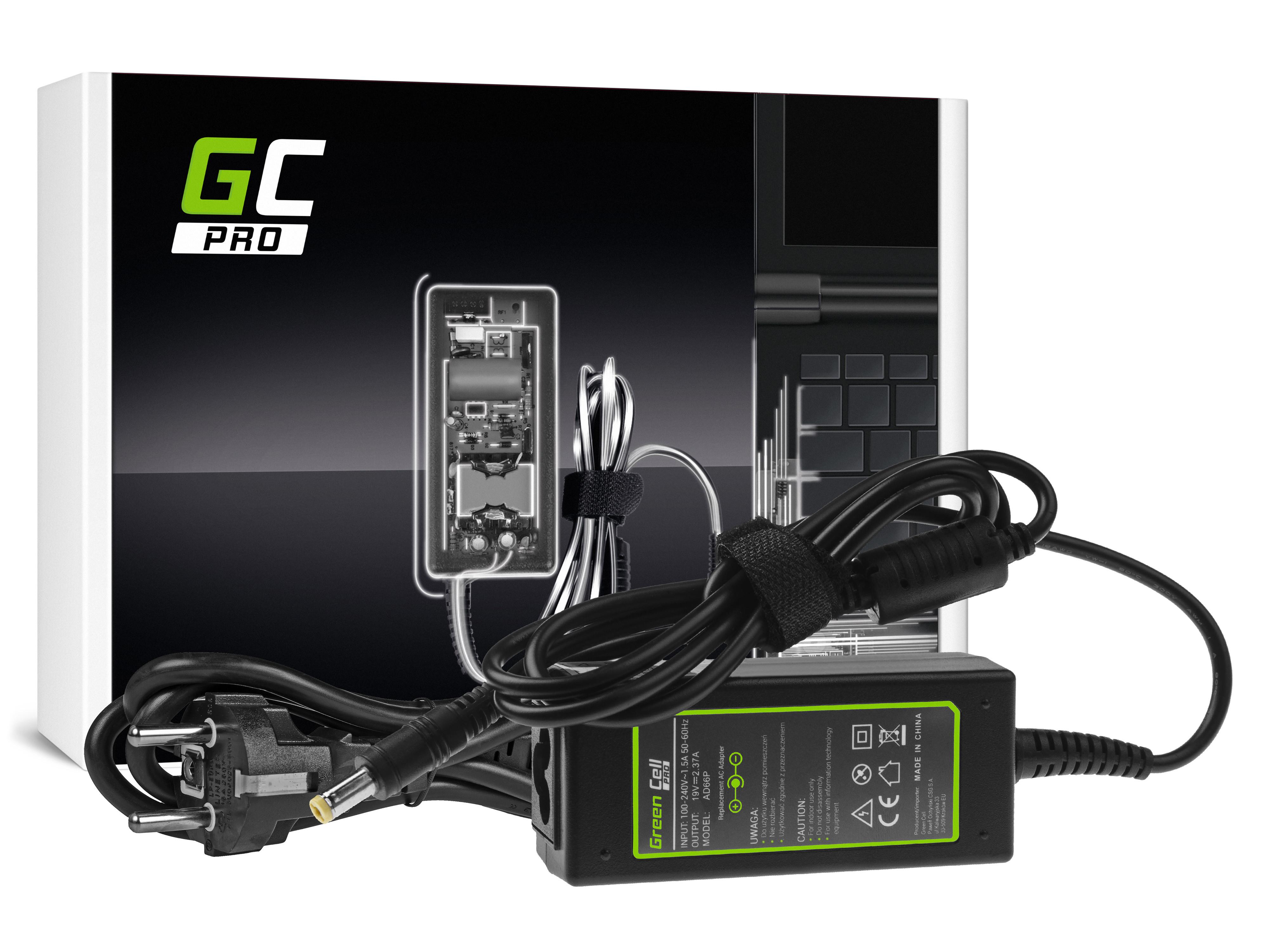 Green Cell PRO Charger  AC Adapter for Acer Aspire E5-511 E5-521 E5-573 E5-573G ES1-131 ES1-512 ES1-531 V5-171 19V 2.37A 45W