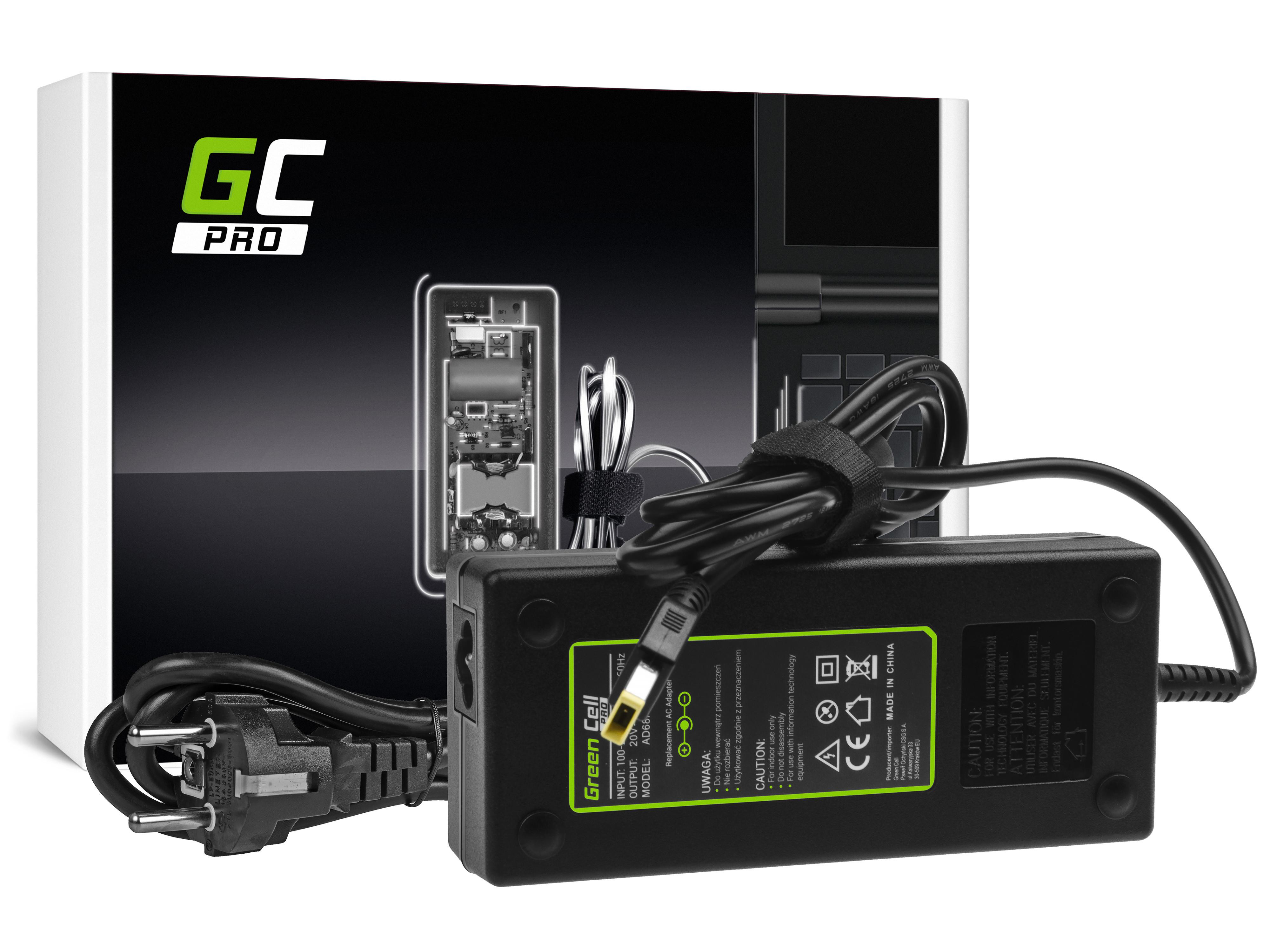 Green Cell PRO Charger  AC Adapter for Lenovo Y70 Y50-70 Y70 Y70-70 Y520 Y700 Z710 700-15ISK ThinkPad W540 T4 20V 6.75A 135W