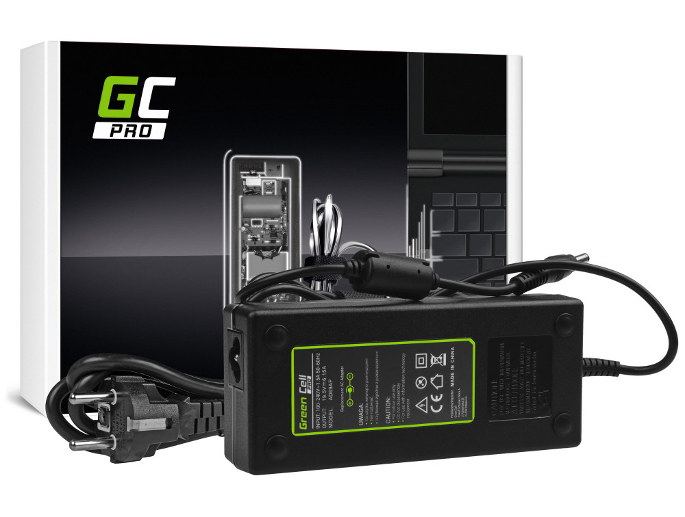 Green Cell PRO töltő AC adapter Lenovo IdeaPad Y510p Y550p Y560 Y570 Y580 Z500 Z570 MSI GE60 GE70 GP 19.5V 6.15A 120W