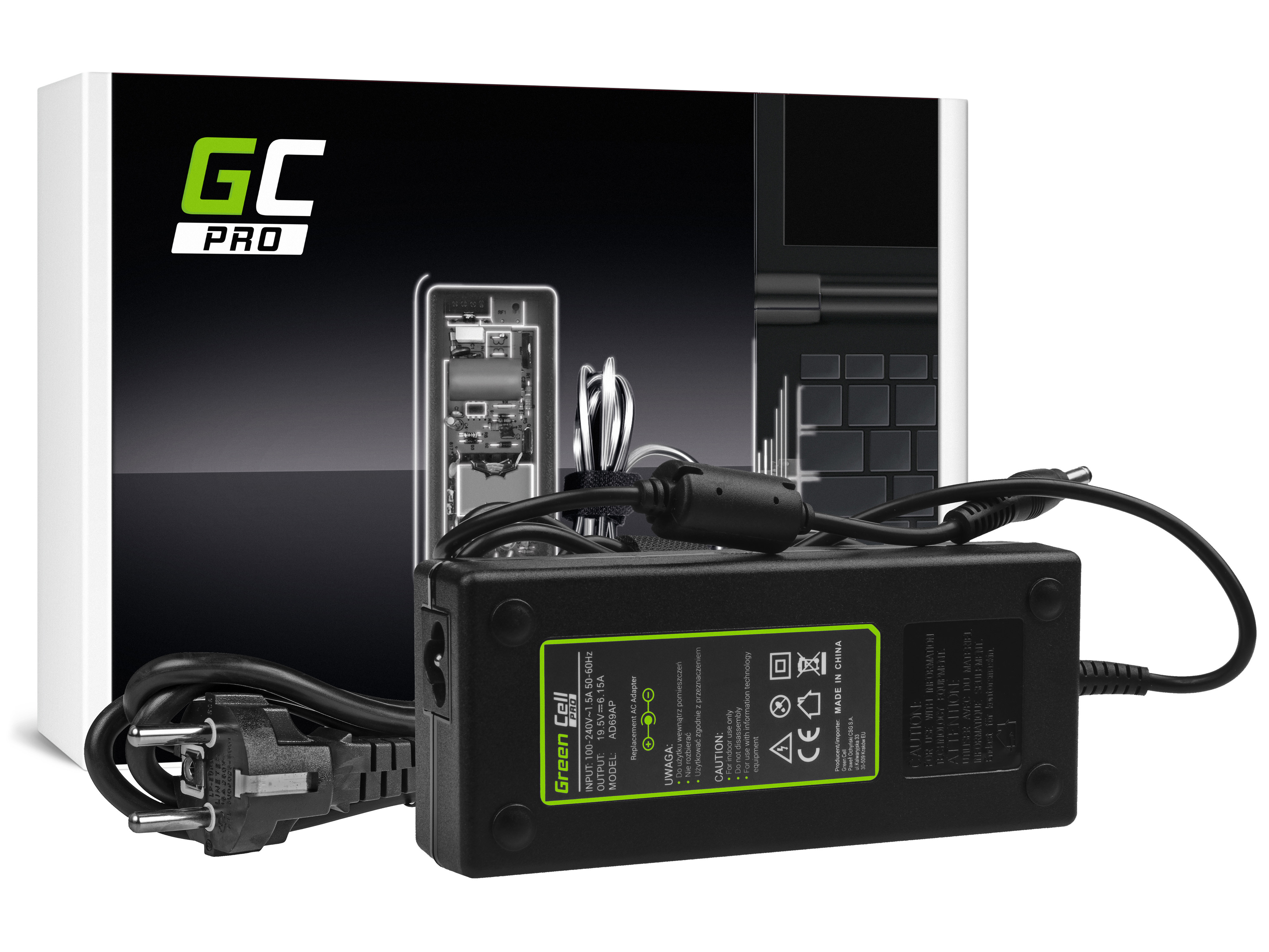 Green Cell AD69AP Nabíječka adaptér pro Lenovo IdeaPad Y510p Y550p Y560 Y570 Y580 Z500 Z570 MSI GE60 GE70 GP70 19.5V 6.15A 120W