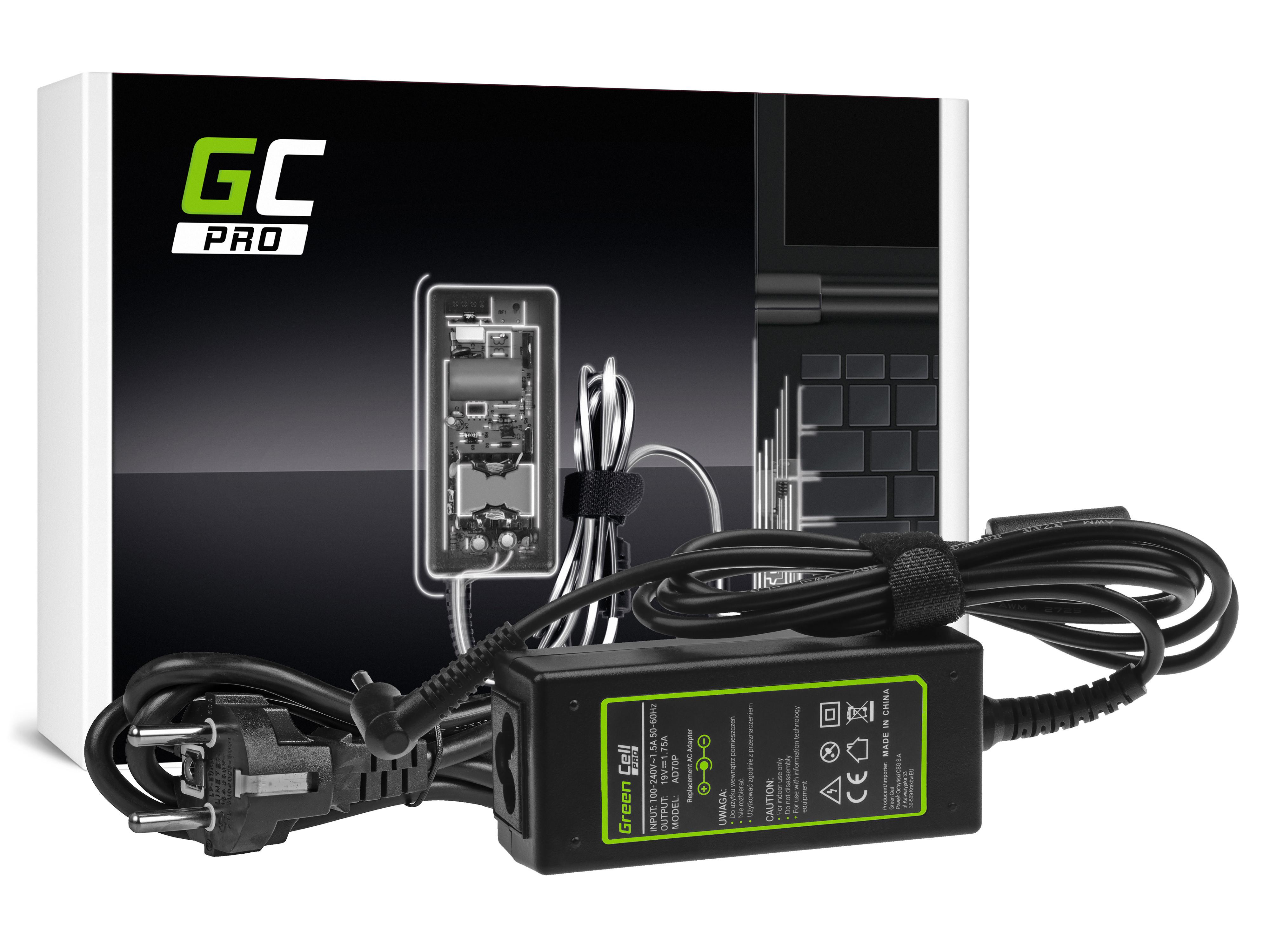 Green Cell AD70P Nabíječka adaptér pro Asus X201E Vivobook F200CA F200MA F201E Q200E S200E X200CA X200M X200MA X202E 19V 33W