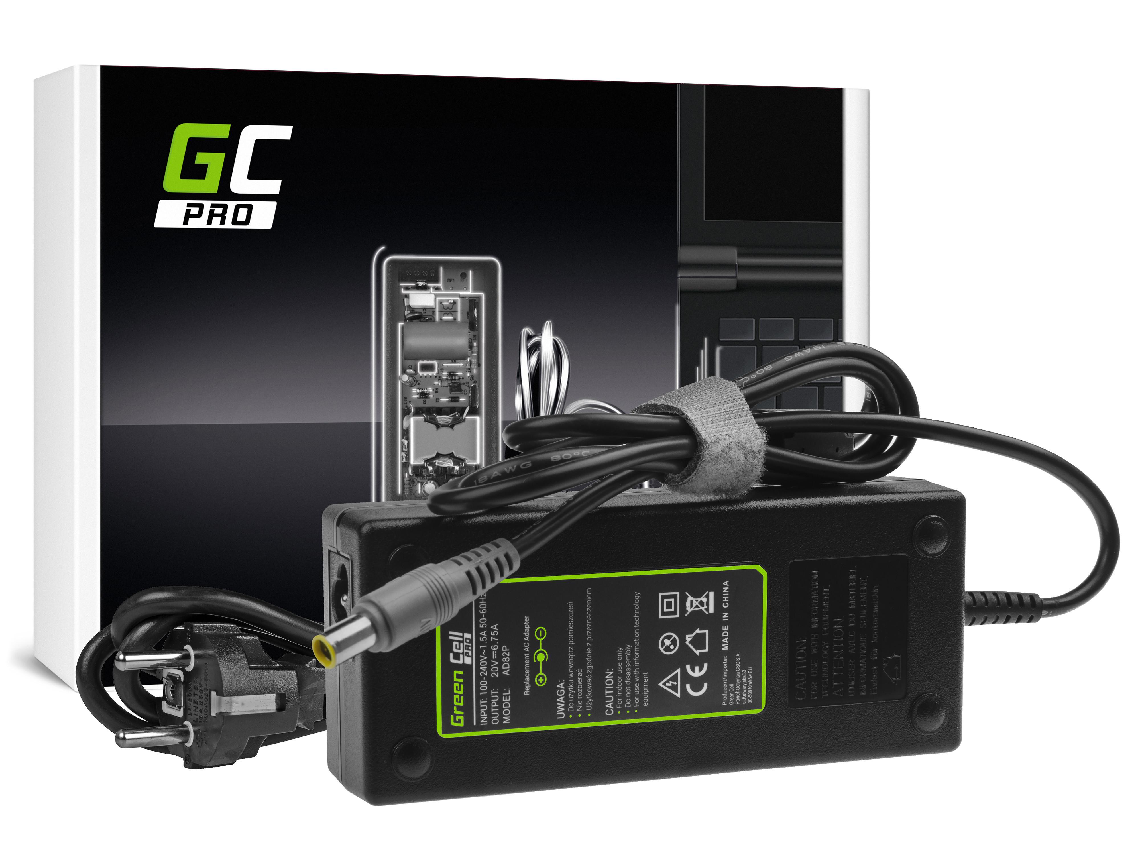 Green Cell AD82P Nabíječka Adaptér pro Lenovo Thinkpad T520 T520i T530 T530i W520 W530 20V 6.75A   135W   konektor 7.9-5.5mm