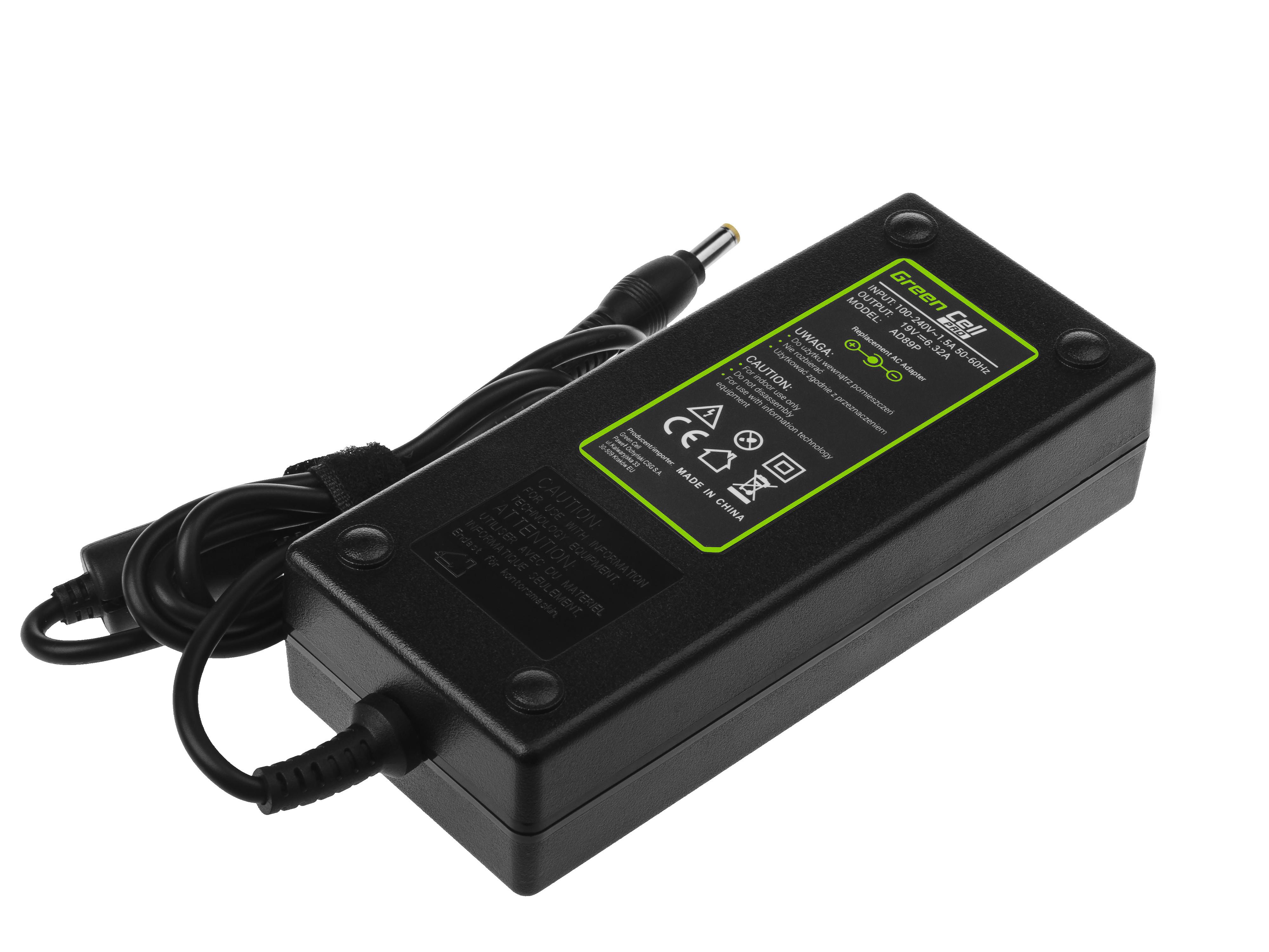 Green Cell AD89P Adaptér Nabíječka Acer A11-120P1A pro Acer Aspire V3-771 V3-771G V3-772 V3-772G | 19V 6.32A 120W konektor 5.5-1.7mm