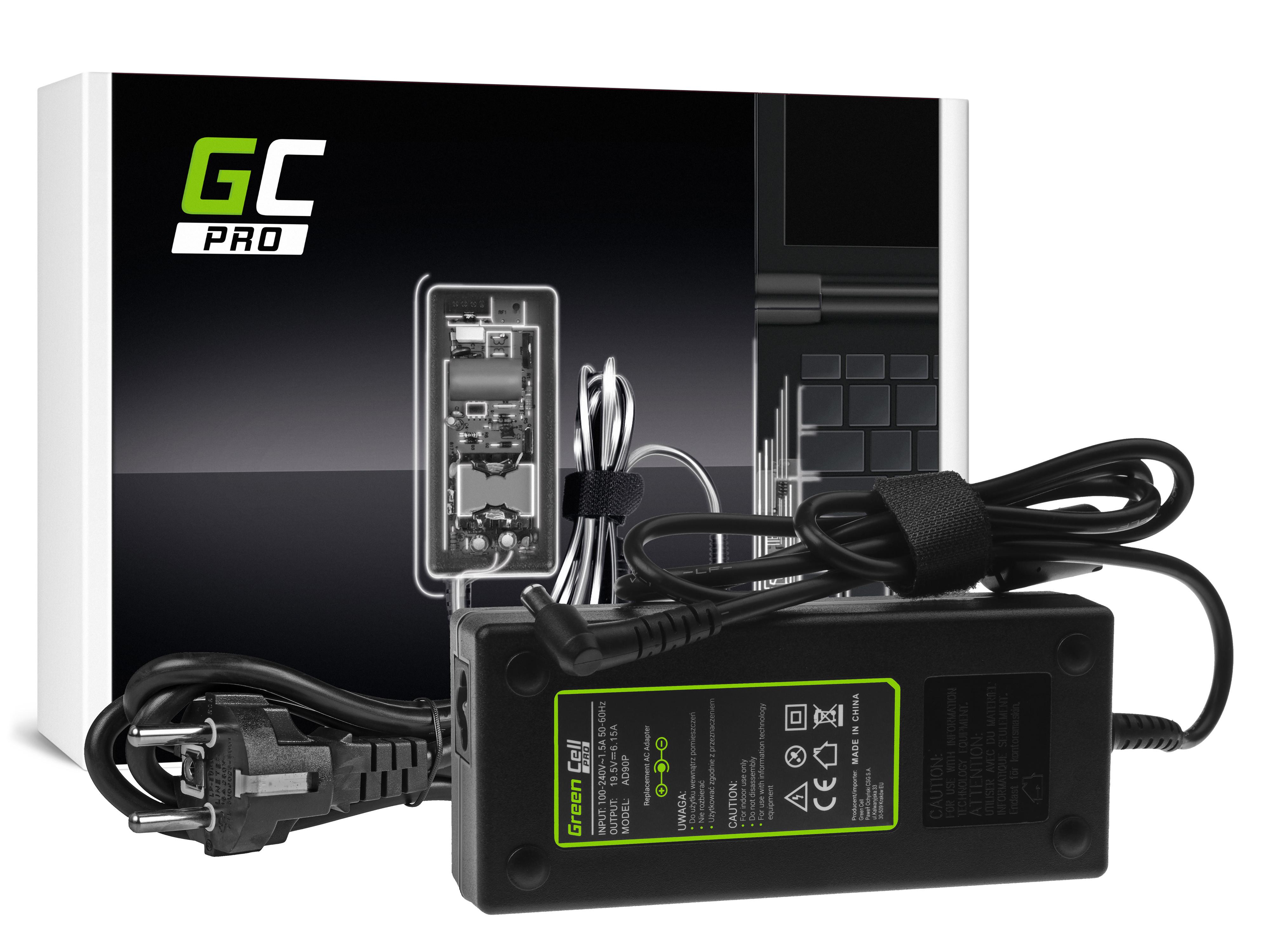 Green Cell AD90P Adaptér Nabíječka Sony Vaio PCG-81112M VGN-AR61S VGN-AR71S VGN-AW31S VPCF11S1E 19.5V 6.15A 120W