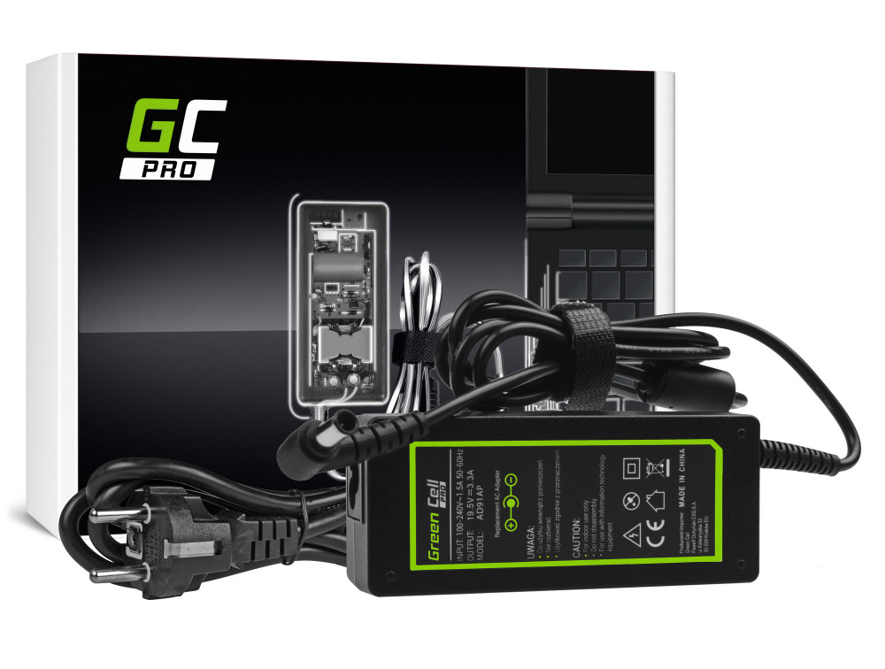 Green Cell PRO töltő AC adapter Sony Vaio SVF14 SVF15 SVF152A29M SVF1521C6EW SVF15AA1QM 19.5V 3.34A 65W