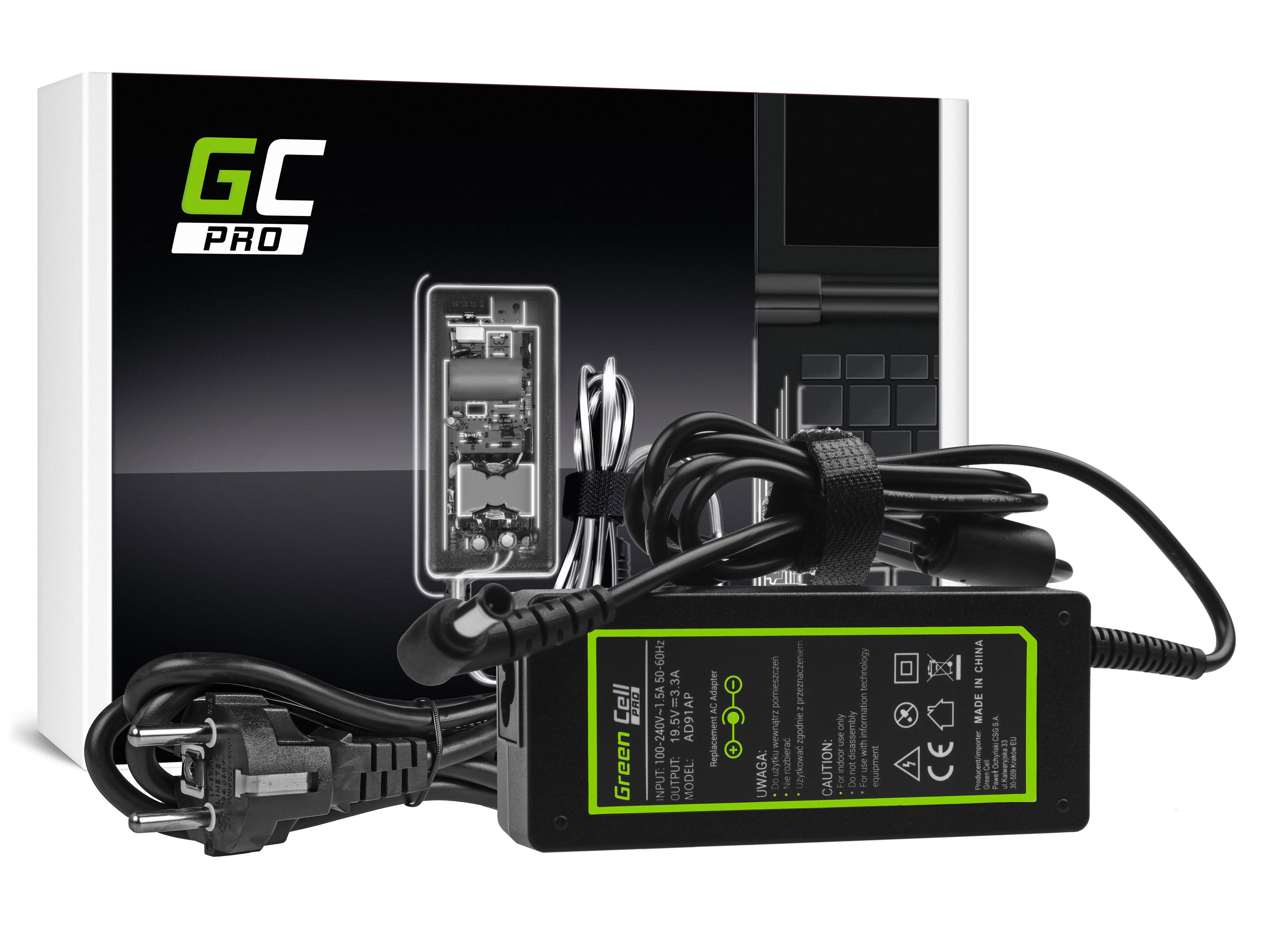 Green Cell AD91AP Adaptér Nabíječka Sony VGP-AC19V43 VGP-AC19V48 19.5V 3.3A 65W pro Sony Vaio SVF15 SVF1521C6EW SVF152A29M | konektor 6.5-4.4mm
