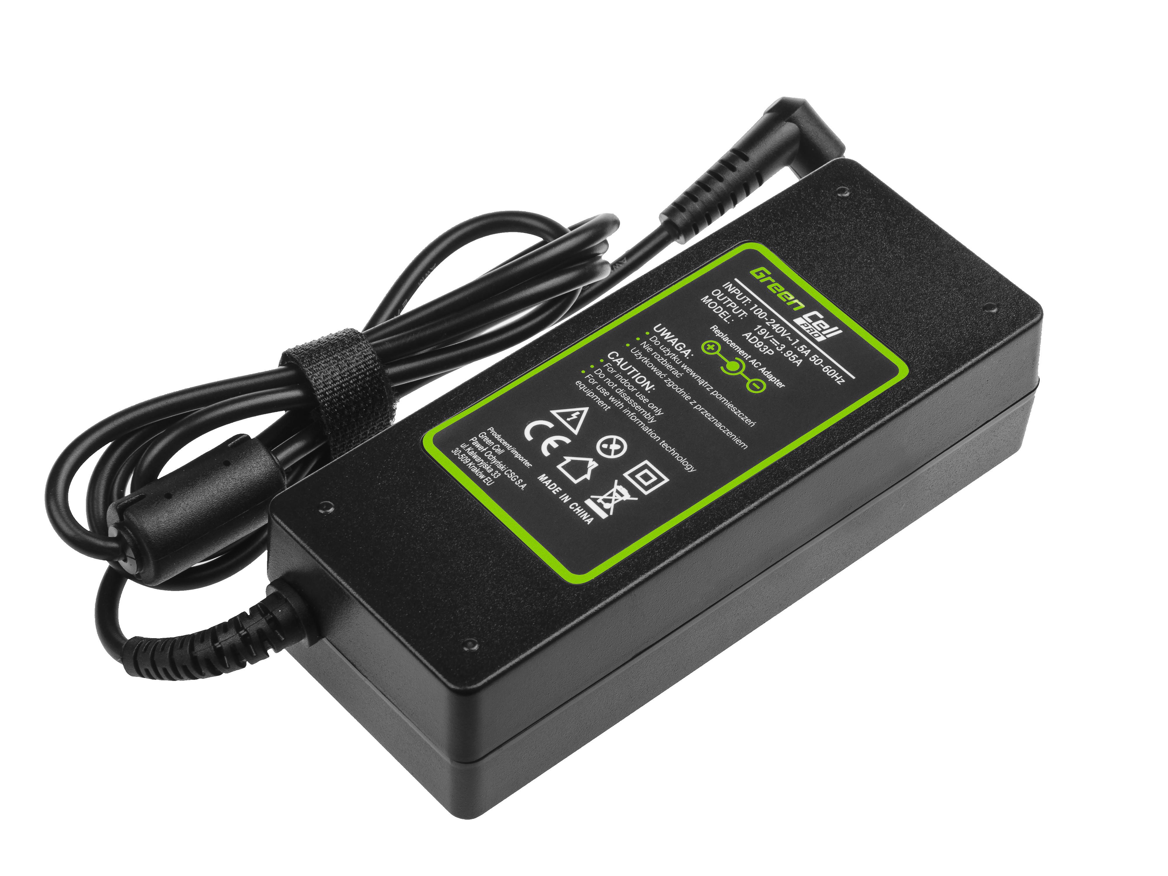 Green Cell AD93P Adaptér Nabíječka Acer Aspire 5220 5315 5520 5610 5620 5630 7520 19V 75W 3.95A