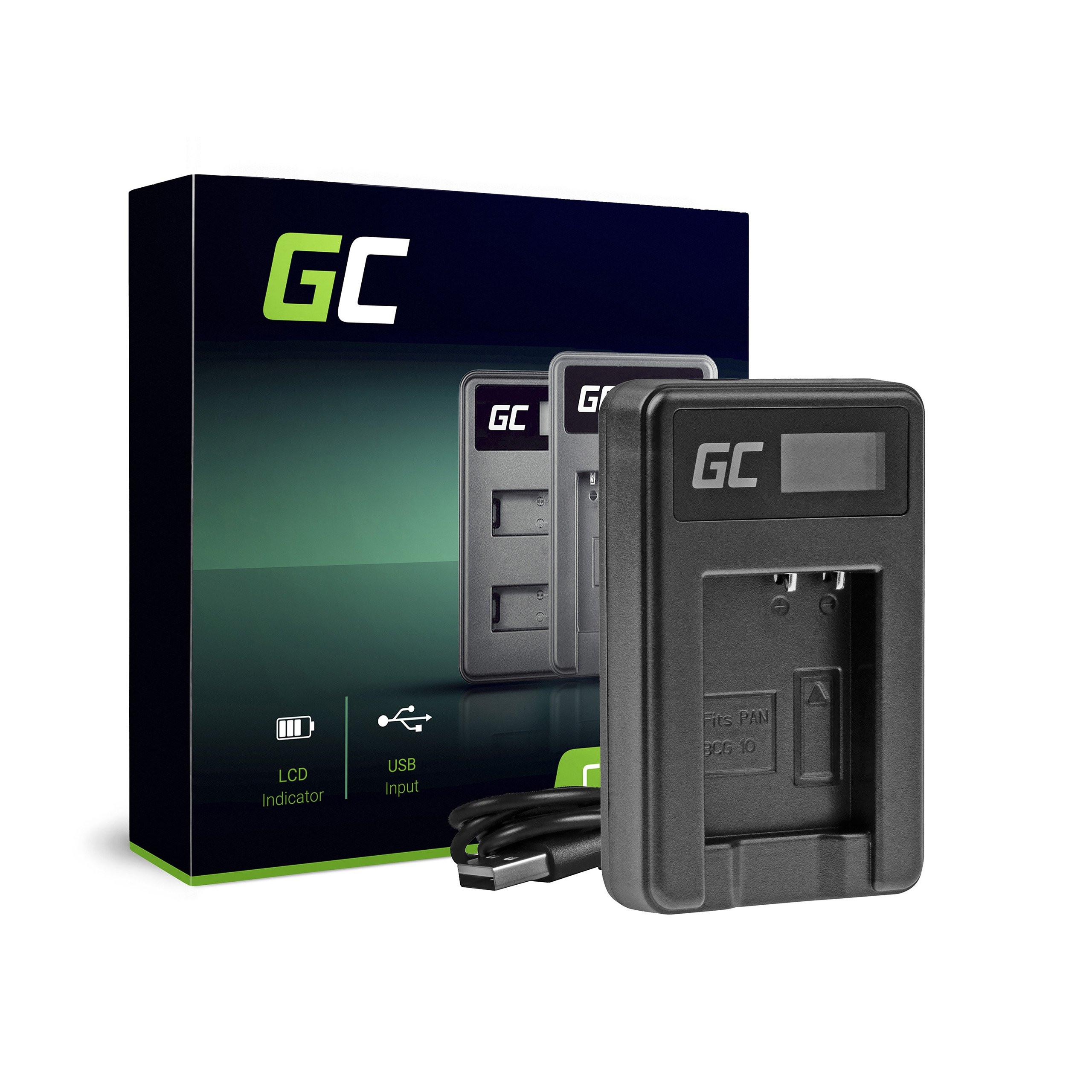Green Cell Nabíječka DE-A65BB pro Panasonic DMW-BCG10 Lumix DMC-TZ10 DMC-TZ20 DMC-TZ30 DMC-ZS5 DMC-ZS10 DMC-ZX1