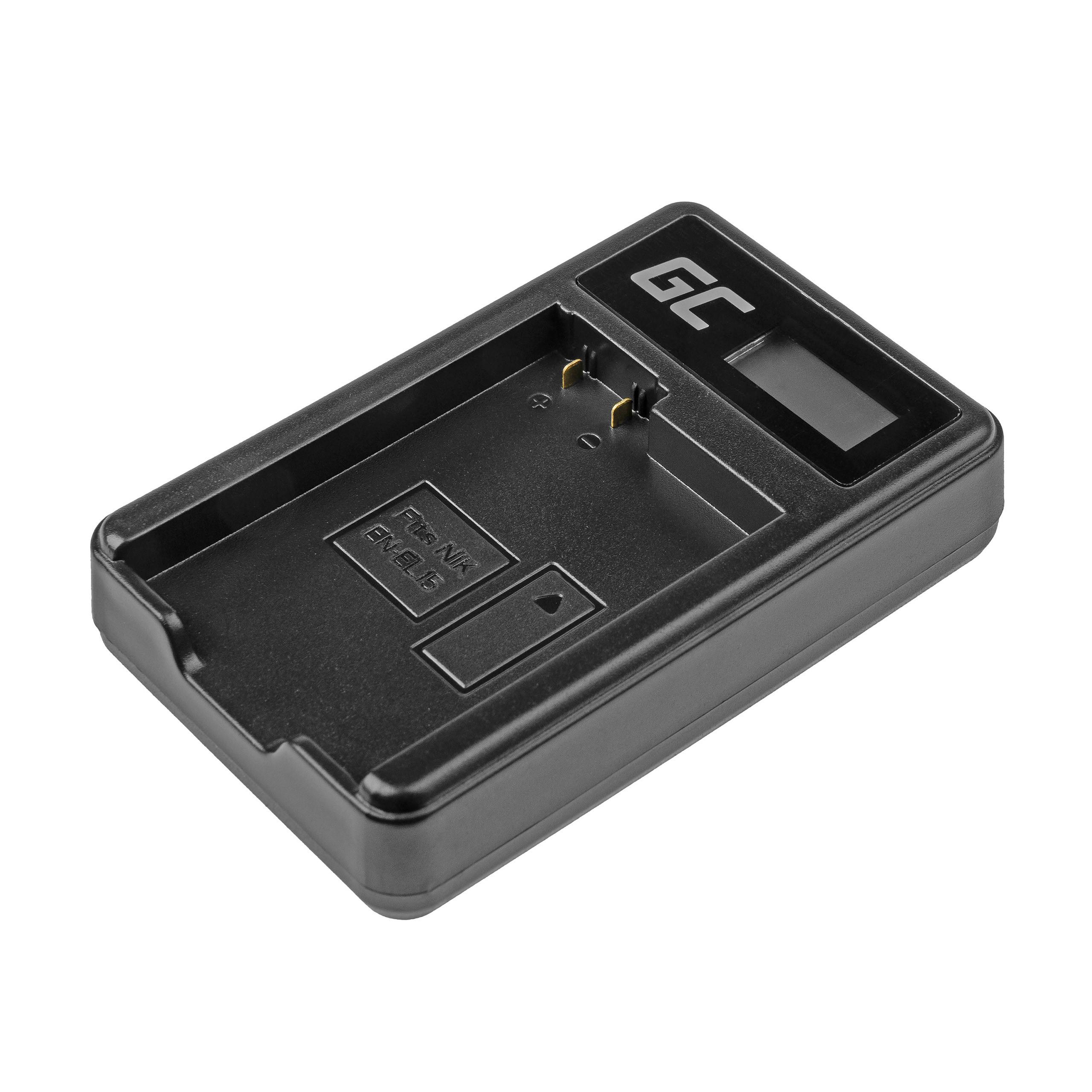 Green Cell Nabíječka MH-25 pro Nikon EN-EL15 D850 D810 D800 D750 D7500 D7200 D7100 D610 D600