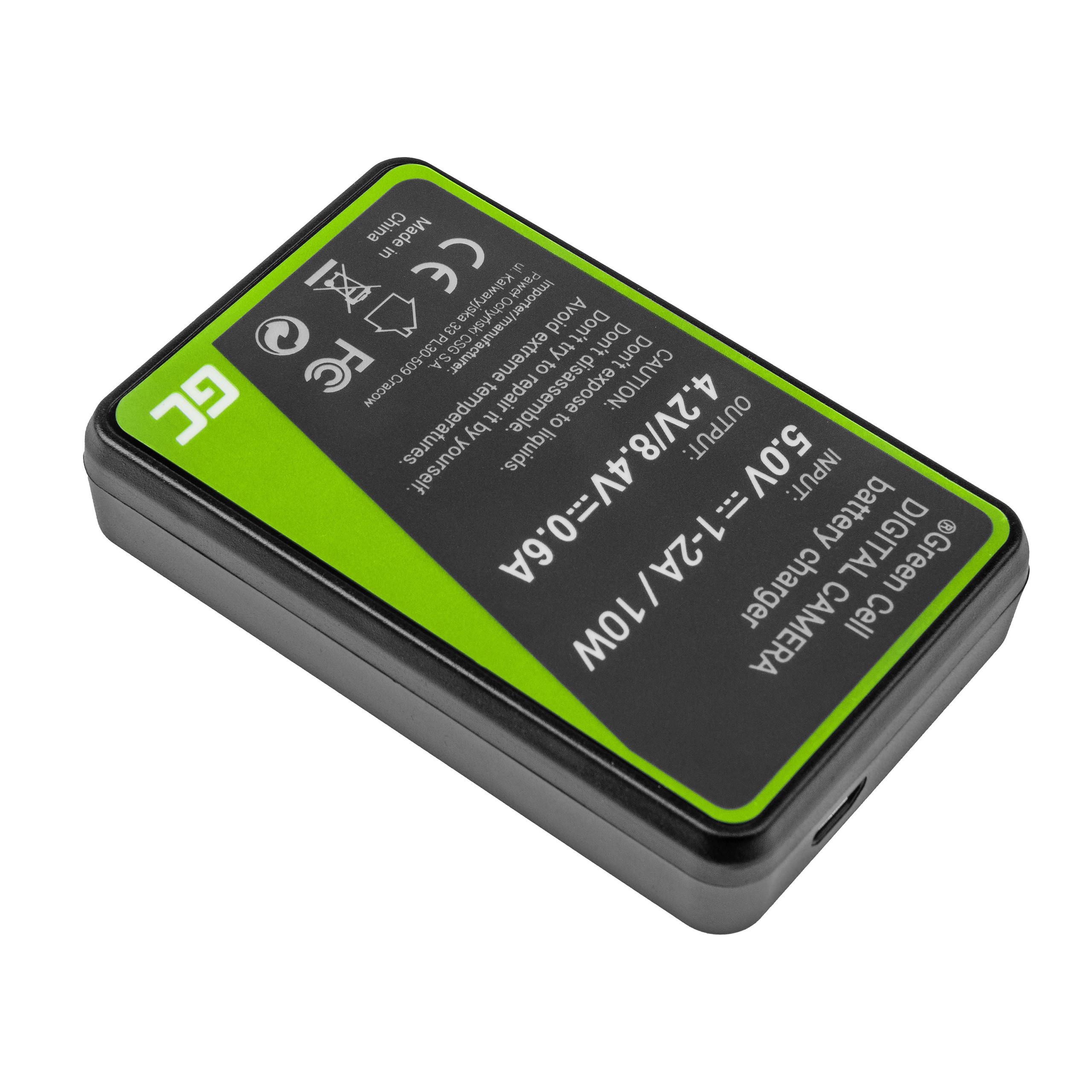 Green Cell Nabíječka CB-2LCE pro Canon NB-10L PowerShot G15, G16, G1X, G3X, SX40 HS, SX40HS, SX50 HS, SX60 HS