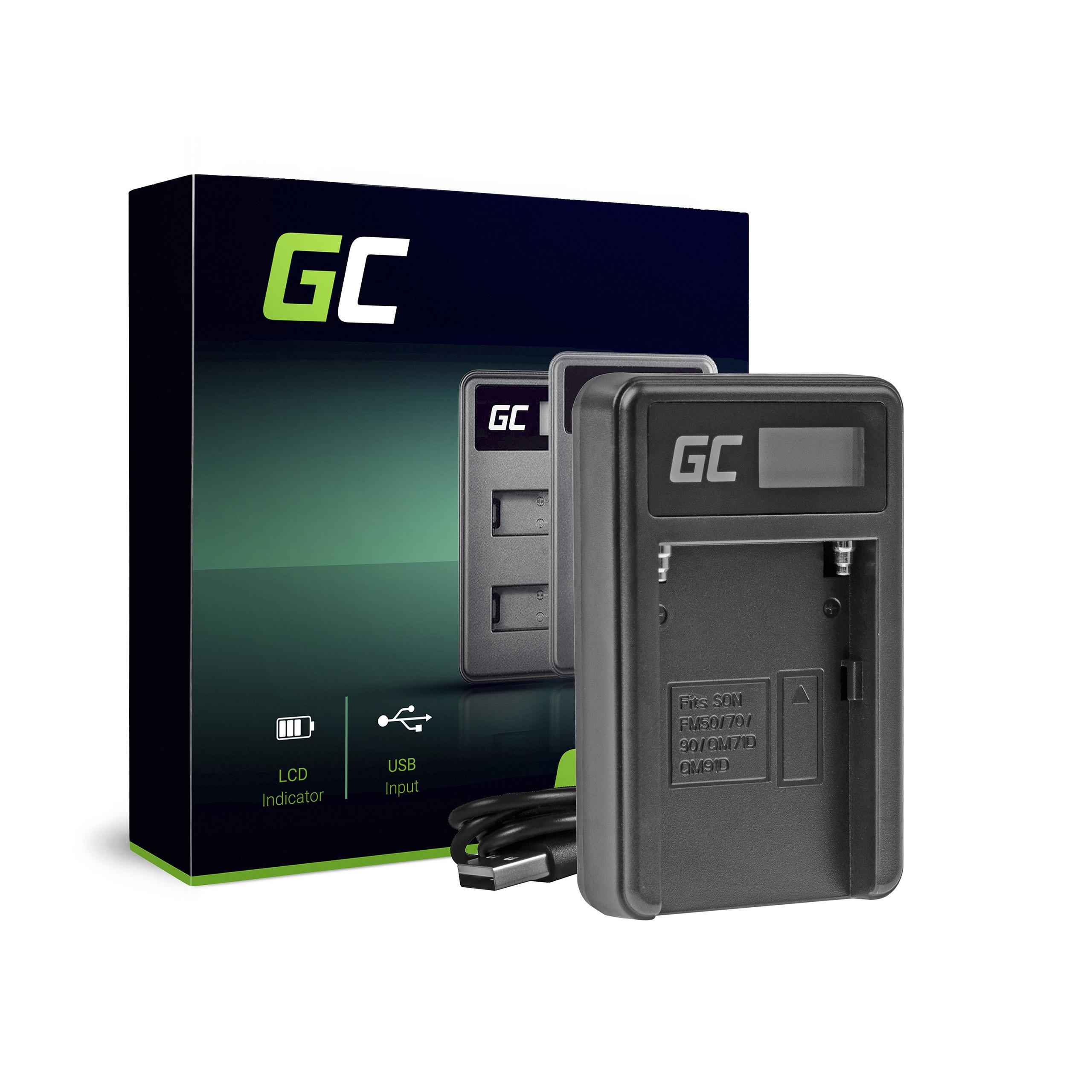Green Cell Nabíječka BC-V615 AC-VL1 pro Sony A58, A57, A65, A77, A99, A900, A700, A580, A56, A55,0 A850, SLT A99 II