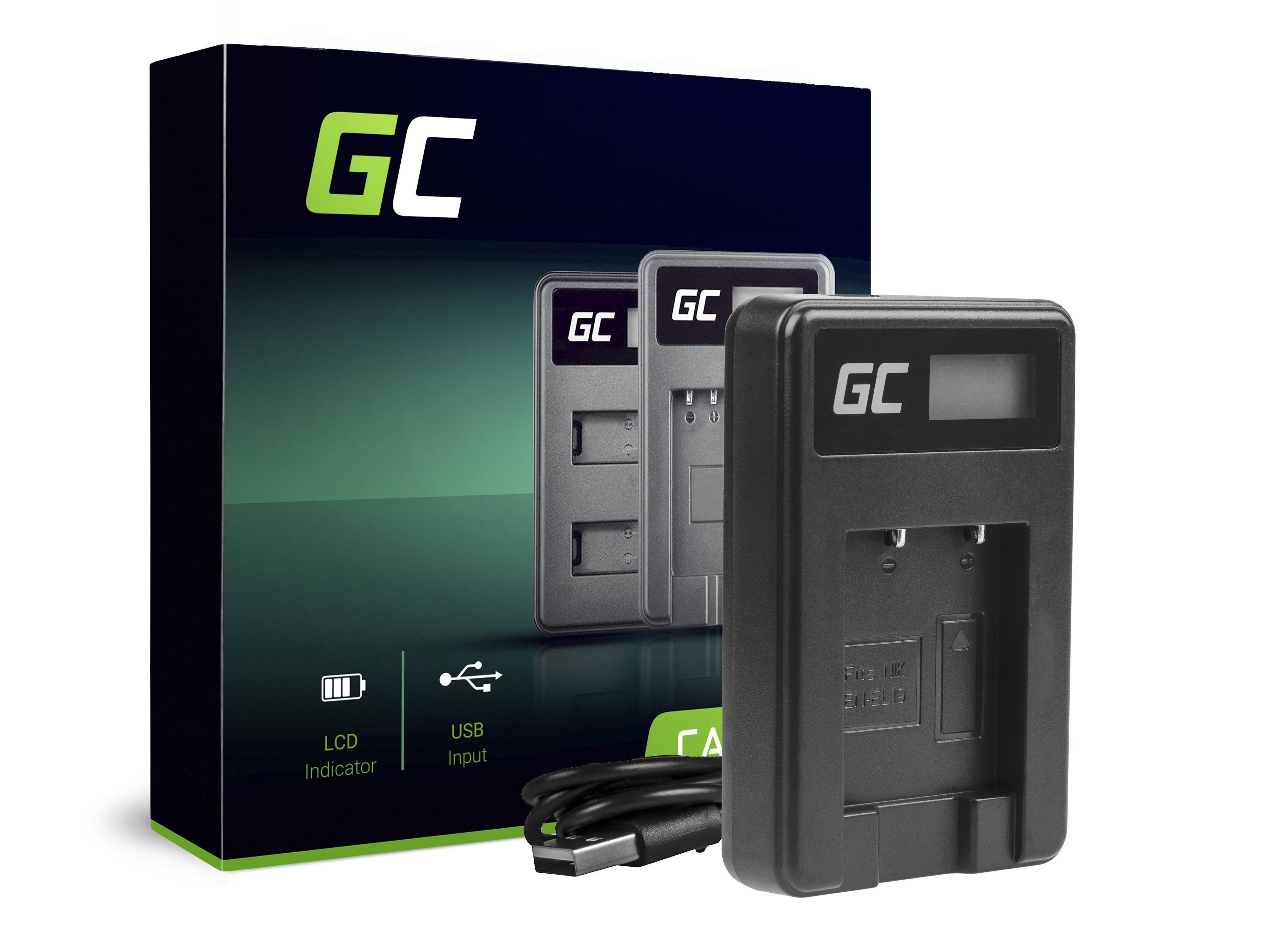 Green Cell Nabíječka MH-66 pro Nikon EN-EL19, Coolpix W100, A100, A300, S32, S33, S100, S2750, S3300, S5200, S6400, S7000