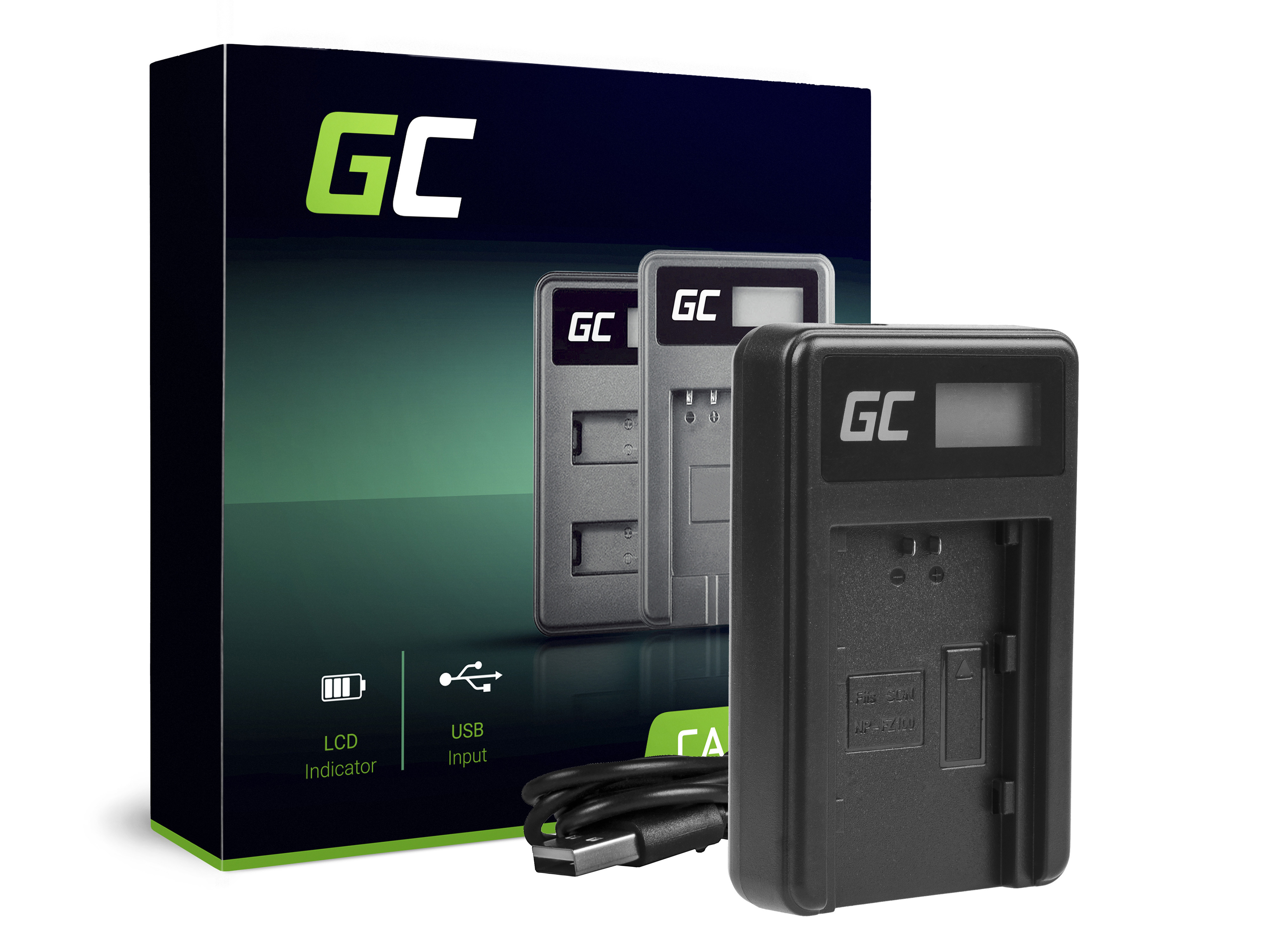 Green Cell Nabíječka BC-QZ1 pro Sony NP-FZ100, Alpha A7 III A7R III A9 A9R A9S ILCE-7M3 7RM3