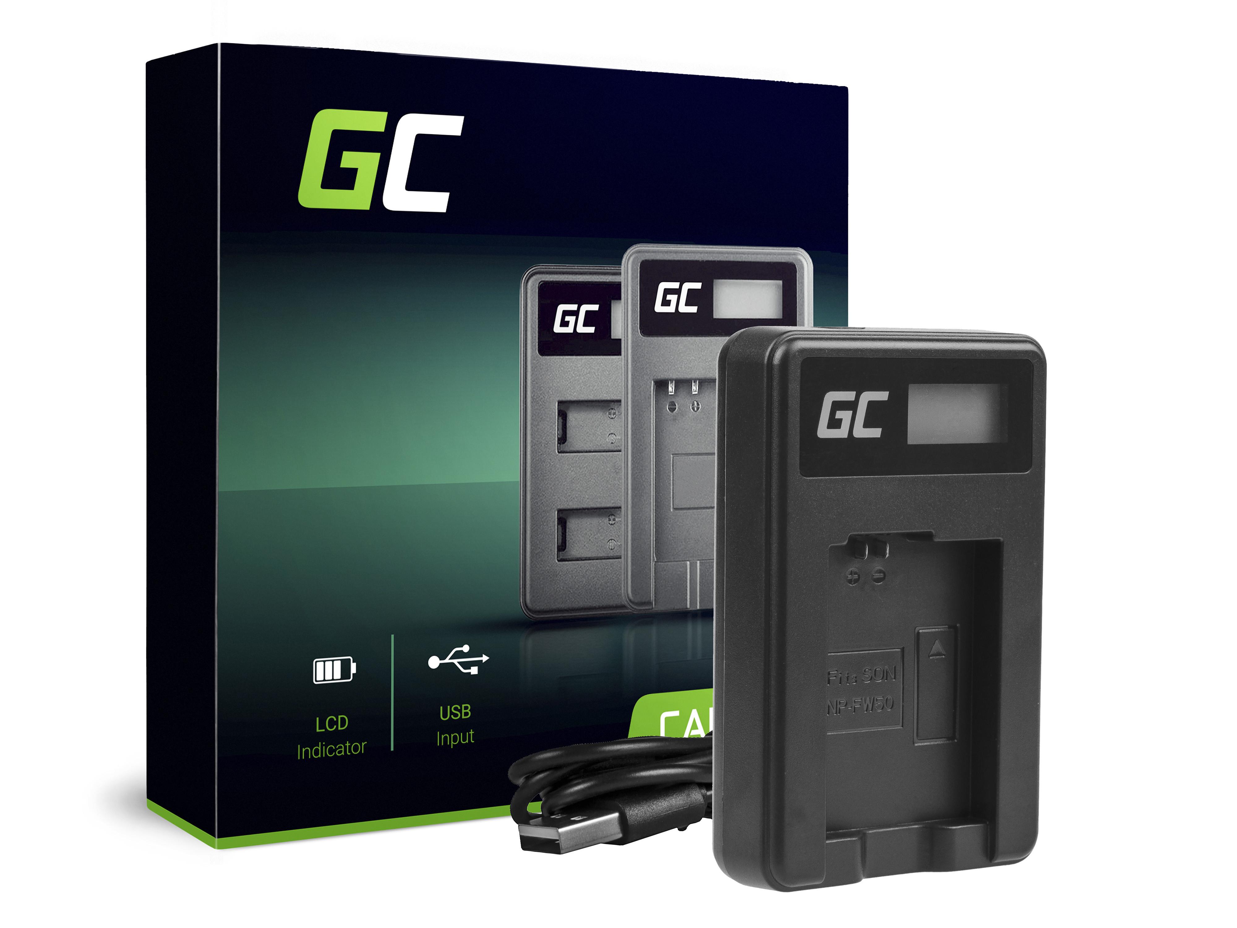 Green Cell Nabíječka BC-TRW pro Sony NP-FW50, Alpha A7 A7 II A7R A7R II A7S A7S II A5000 A5100 A6000 A6300 A6500