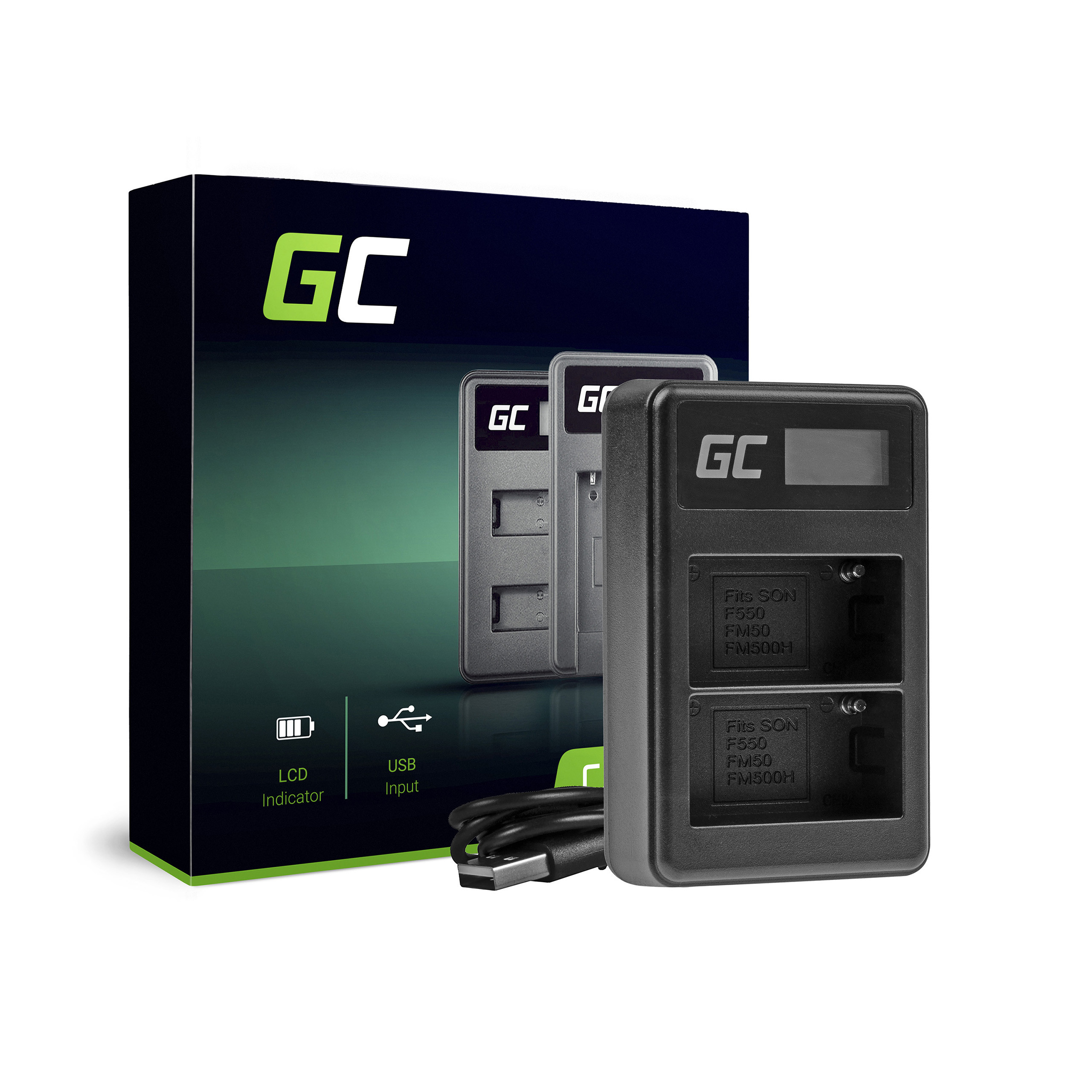 Green Cell Nabíječka Sony BC-V615 AC-VL1 pro Sony NP-FM500H, A58 A57 A65 A77 A99 A900 A700 A580 A560 A550 A850 SLT A99 II