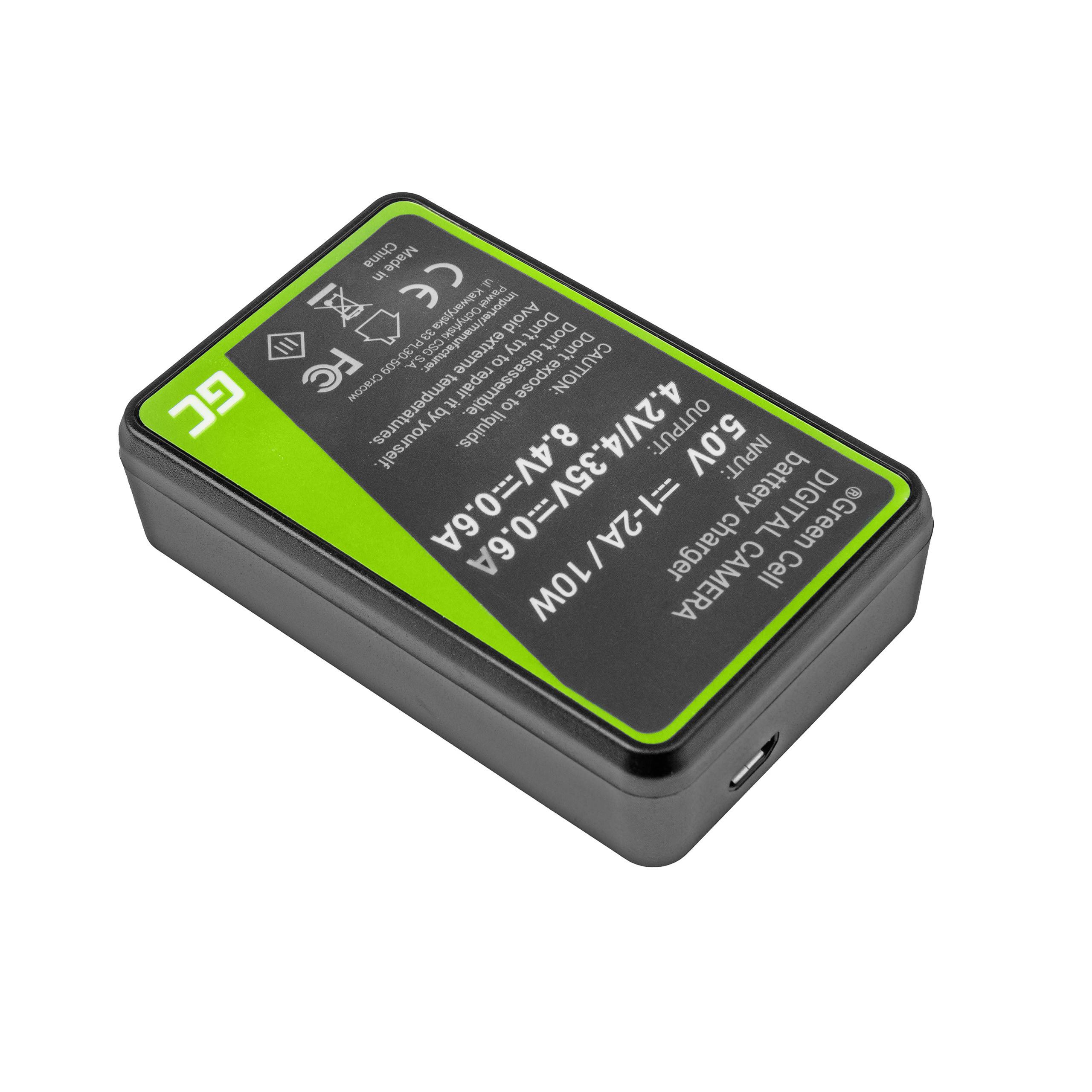 Green Cell Charger MH-24 Nikon EN-EL14, D3200, D3300, D5100, D5200, D5300, D5500, Coolpix P7000, P7700, P7800