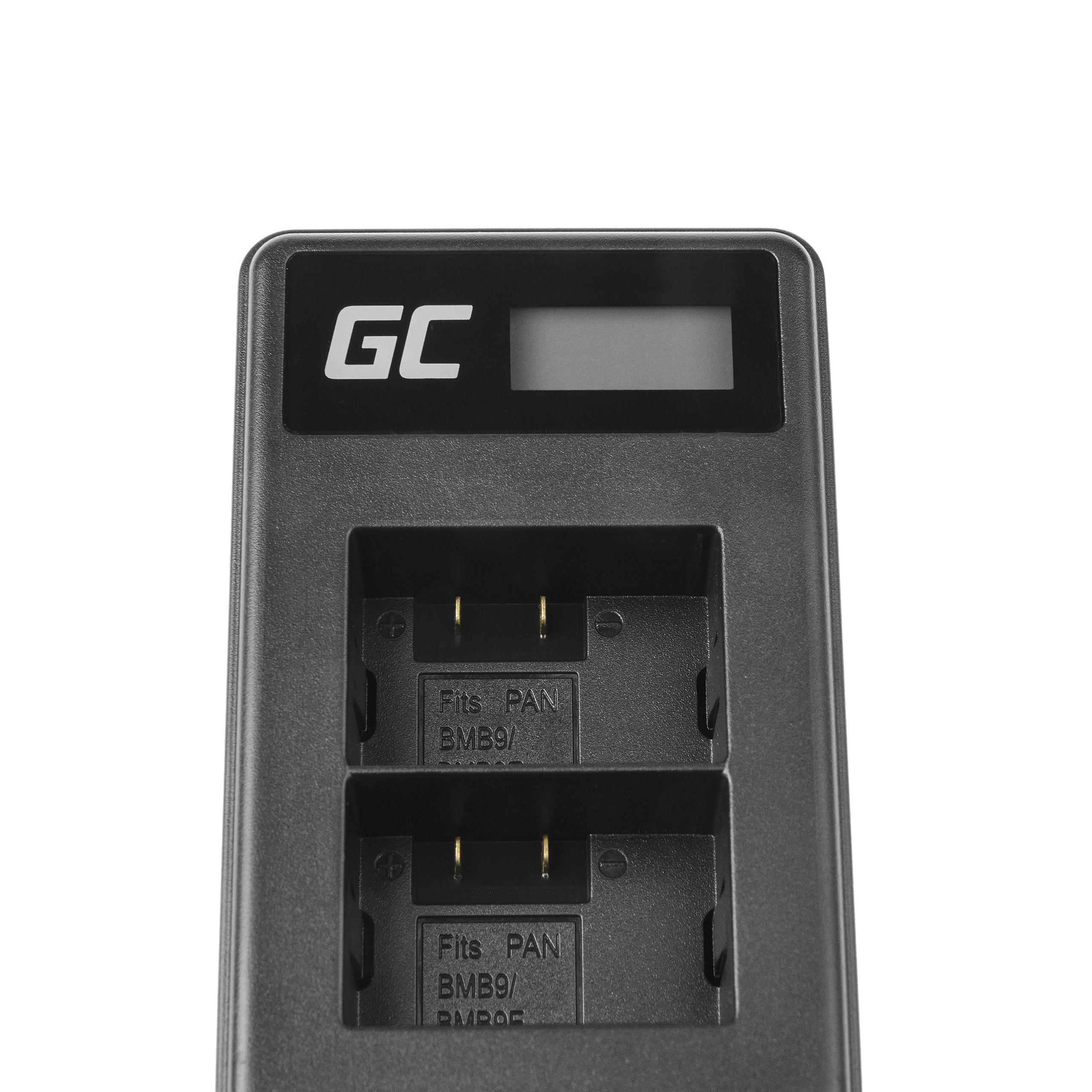 Green Cell Nabíječka DE-A83, DE-A84 pro Panasonic DMW-MBM9, Lumix DMC-FZ70, DMC-FZ60, DMC-FZ100, DMC-FZ40, DMC-FZ47