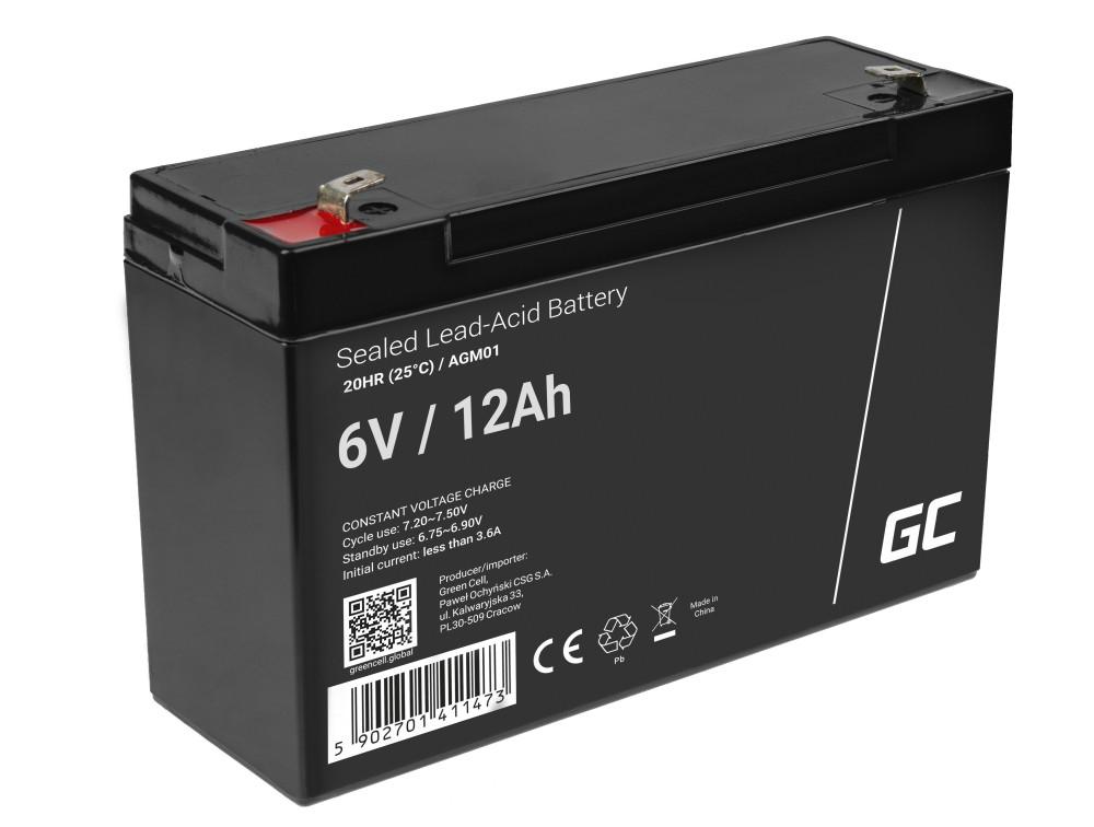 Green Cell AGM akkumulátor 6V 12Ah