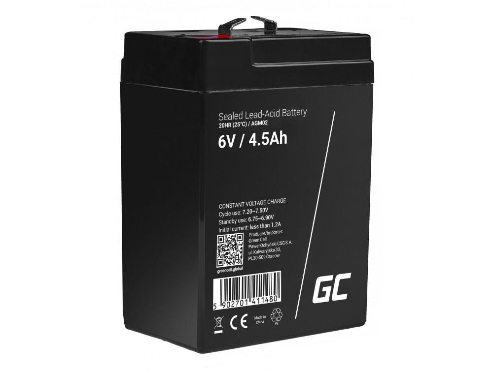 Green Cell AGM akkumulátor 6V 4.5Ah