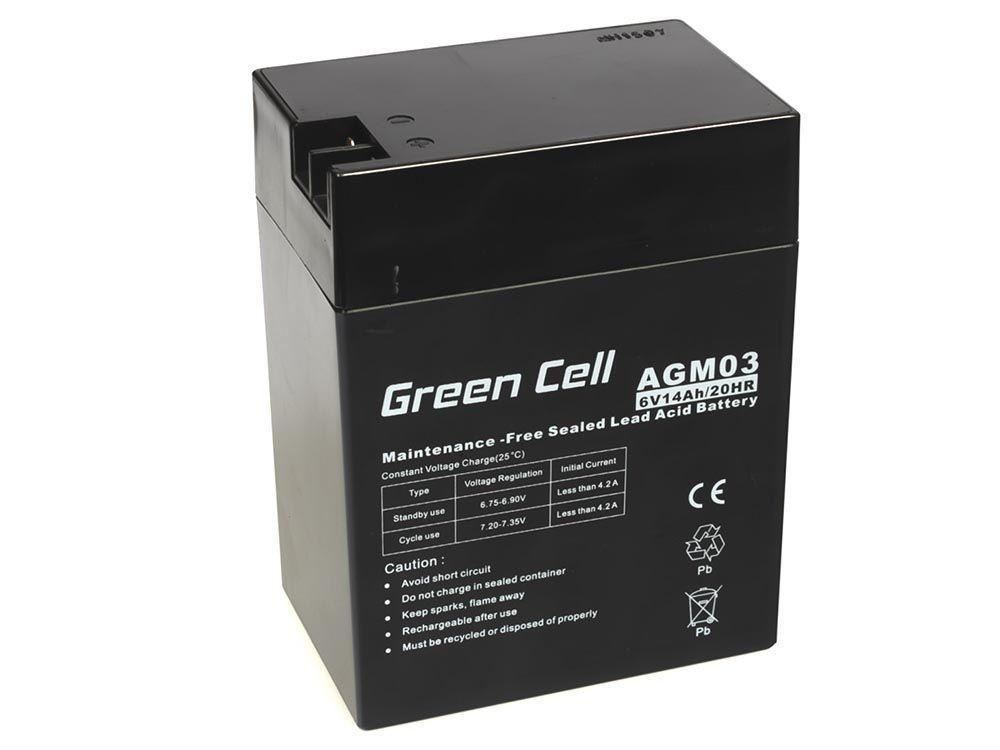 Green Cell AGM Battery 6V 14Ah