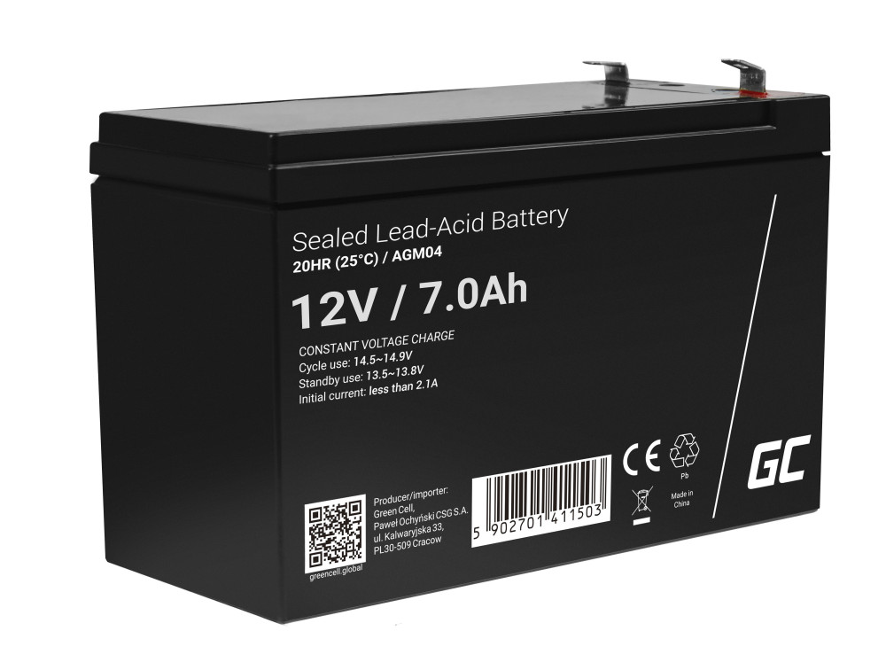Green Cell AGM akkumulátor 12V 7Ah