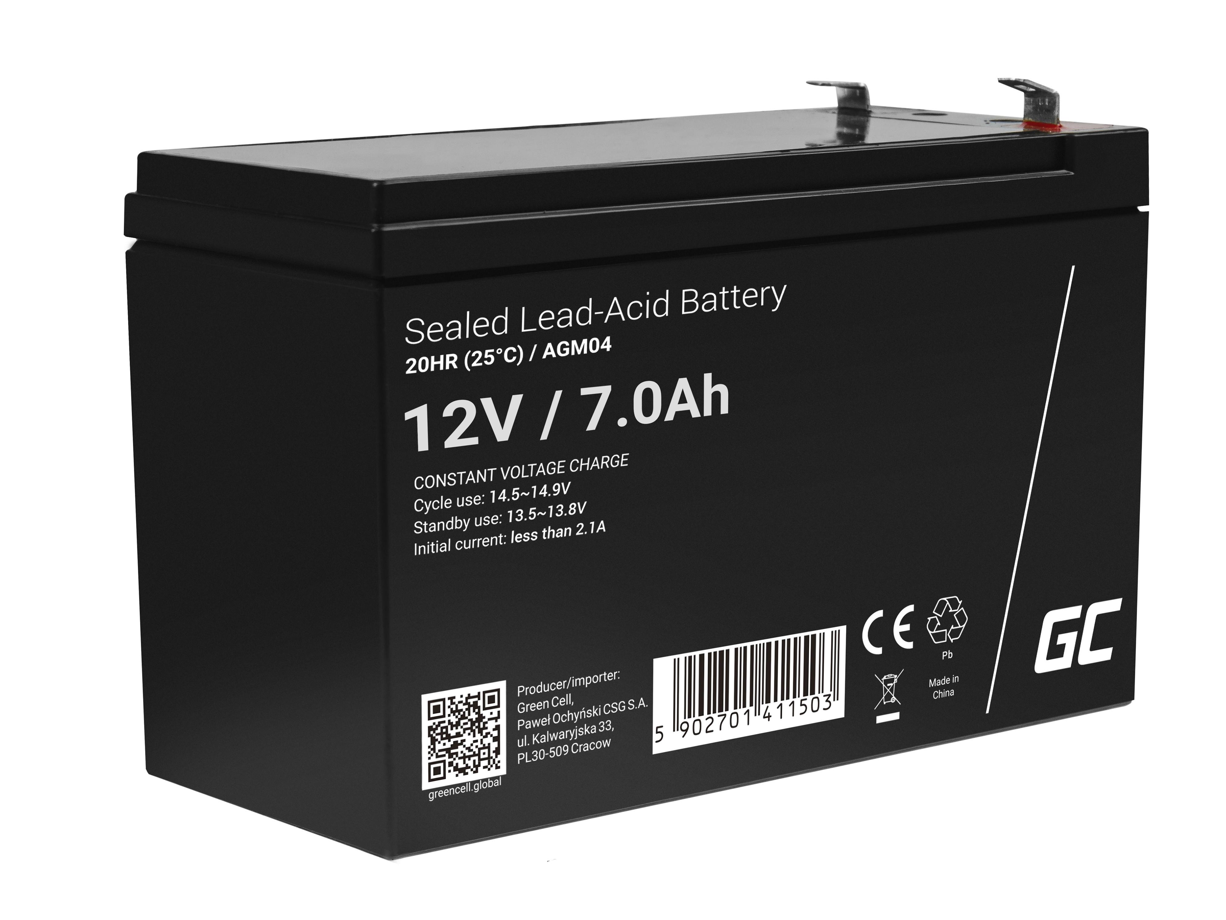 Green Cell AGM Baterie 12V 7Ah