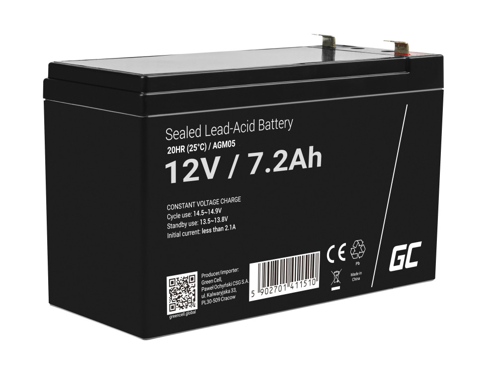 Green Cell AGM akkumulátor 12V 7.2Ah