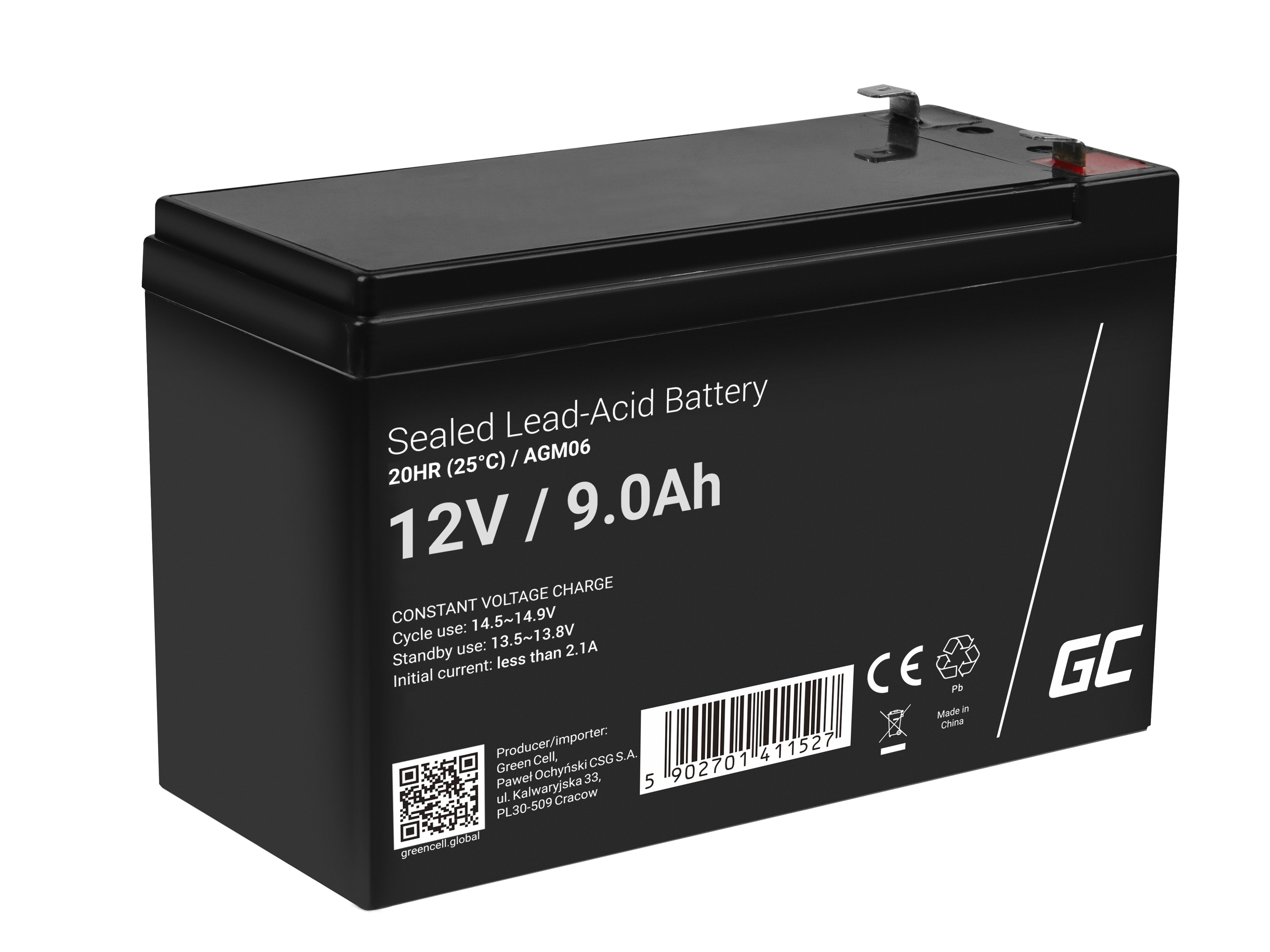 Green Cell AGM Baterie 12V 9Ah