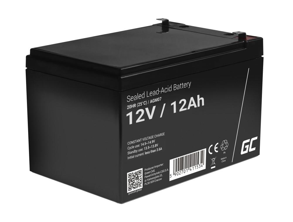 Green Cell AGM akkumulátor 12V 12Ah