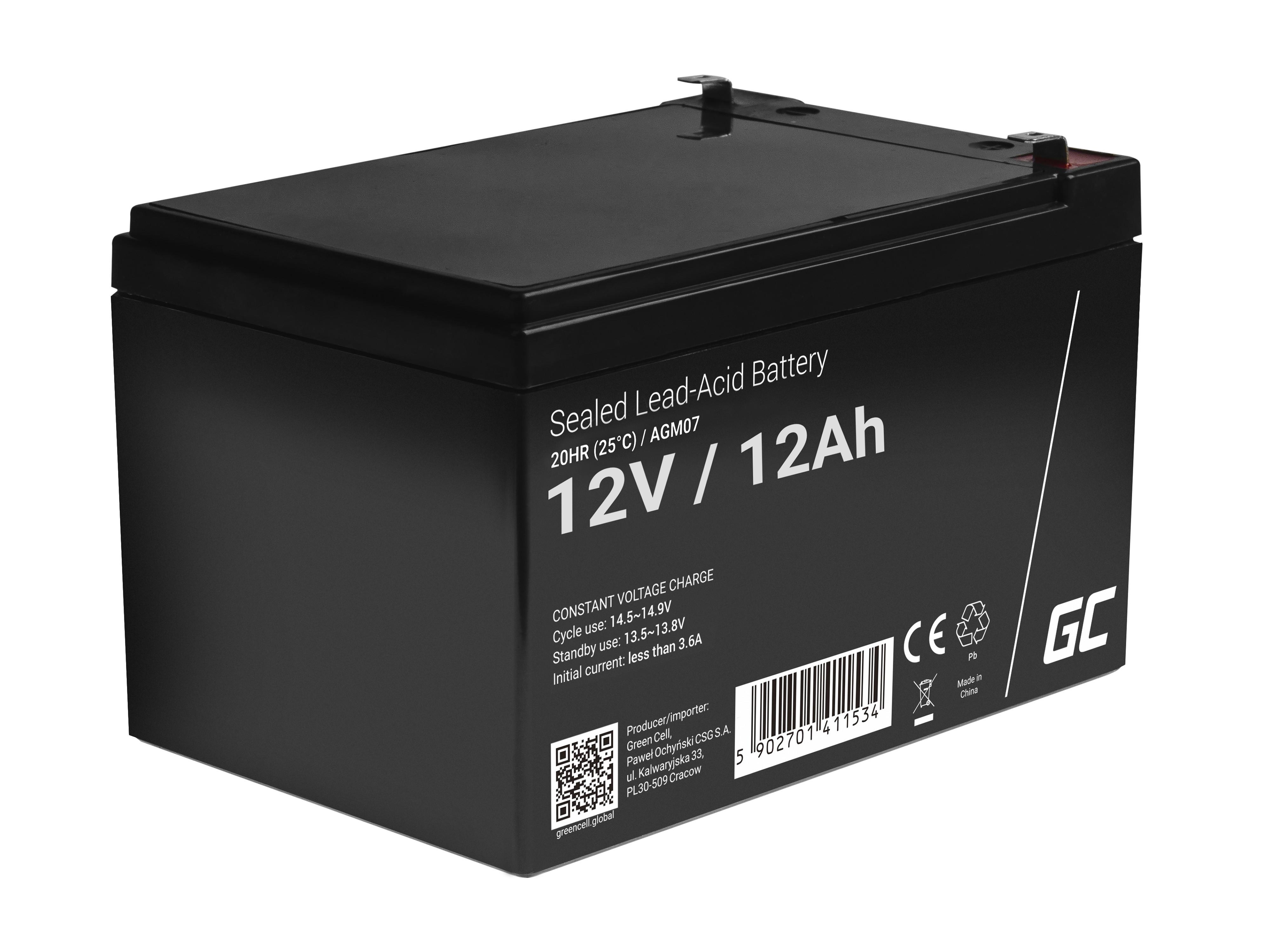 Green Cell Staniční (záložní) Baterie 12V 12Ah