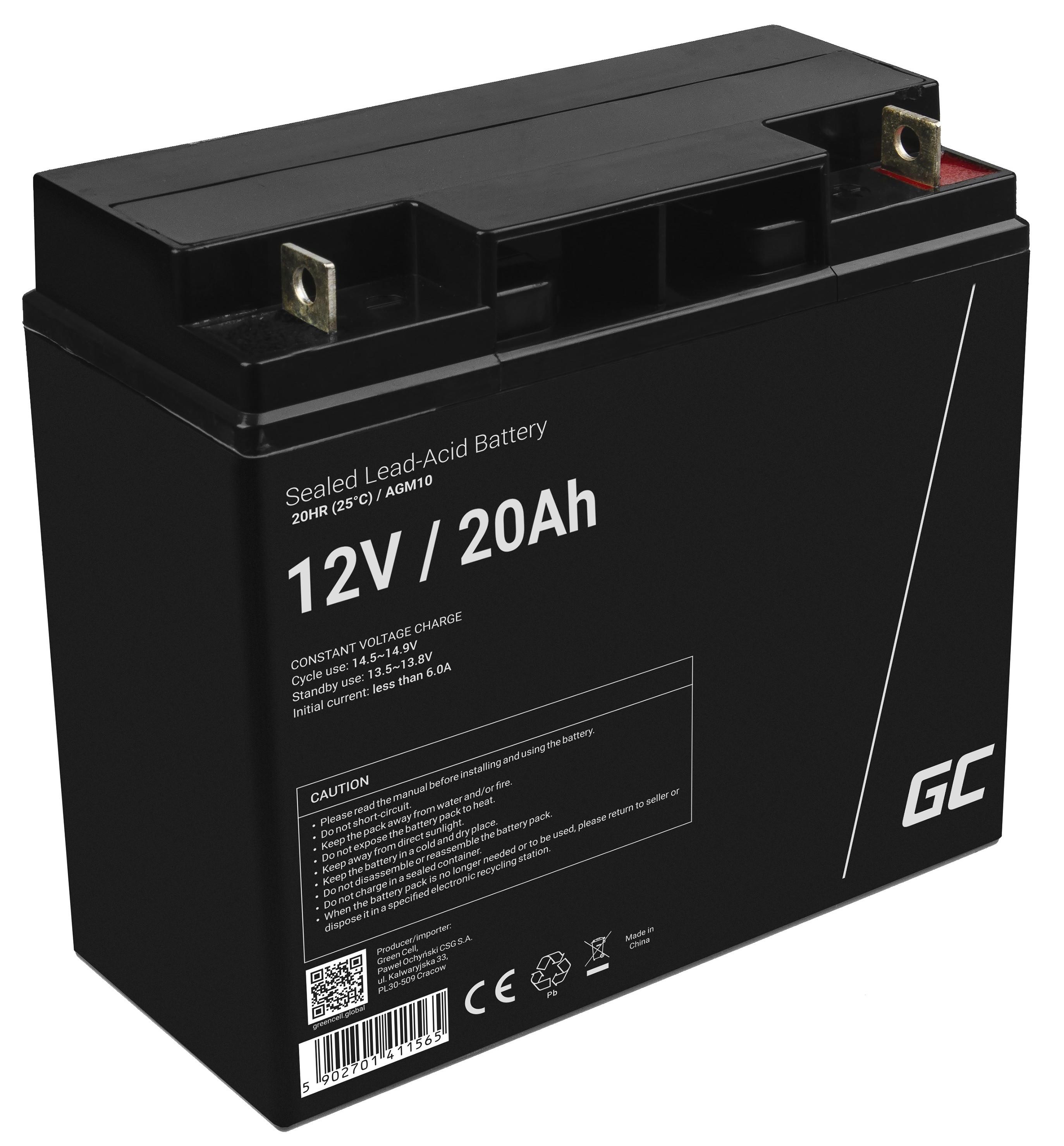 Green Cell Staniční (záložní) Baterie 12V 20Ah