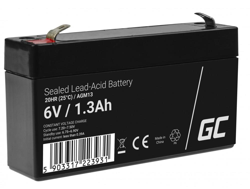 Green Cell AGM akkumulátor 6V 1.3Ah