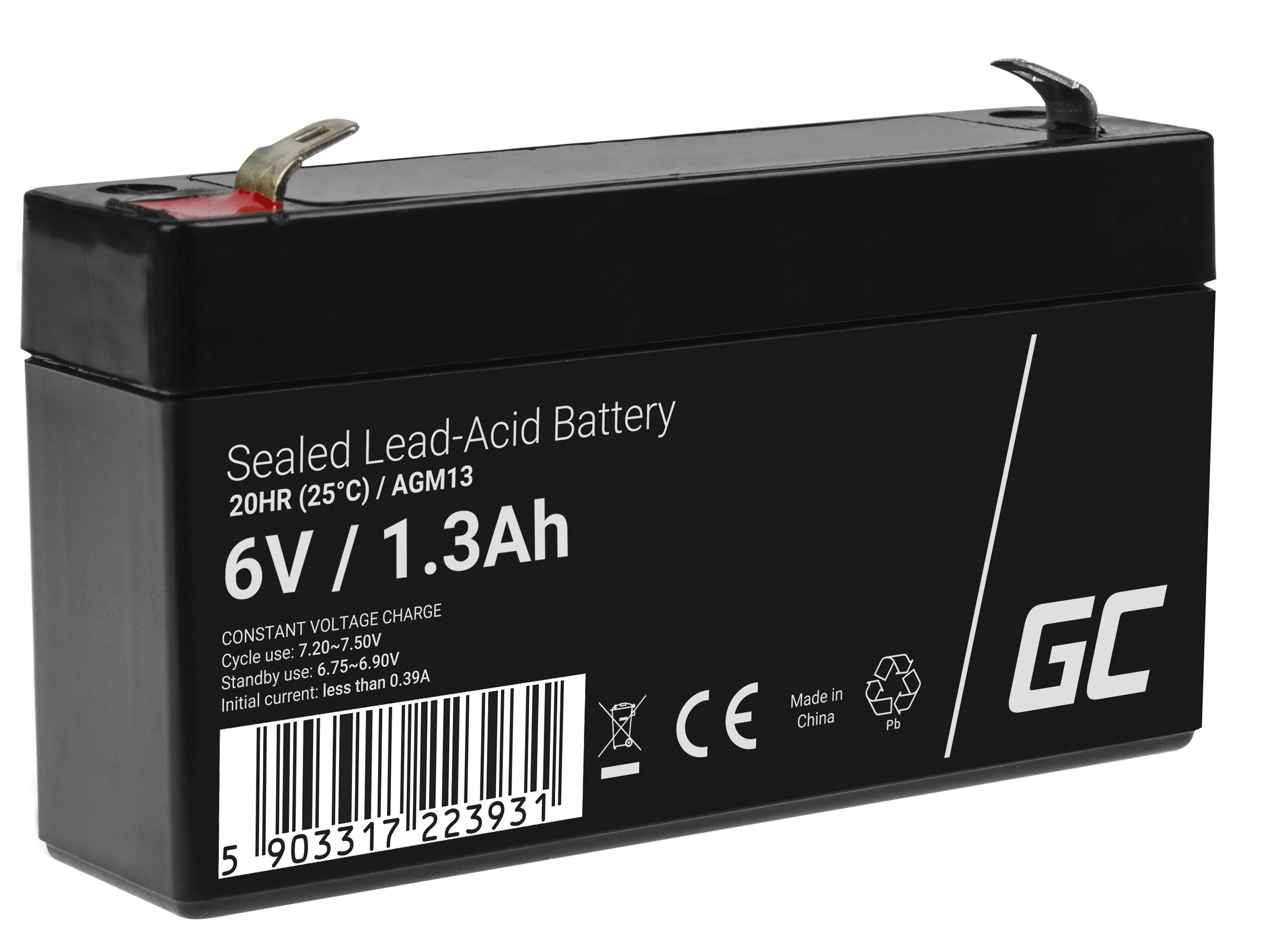 Green Cell AGM Baterie 6V 1.3Ah