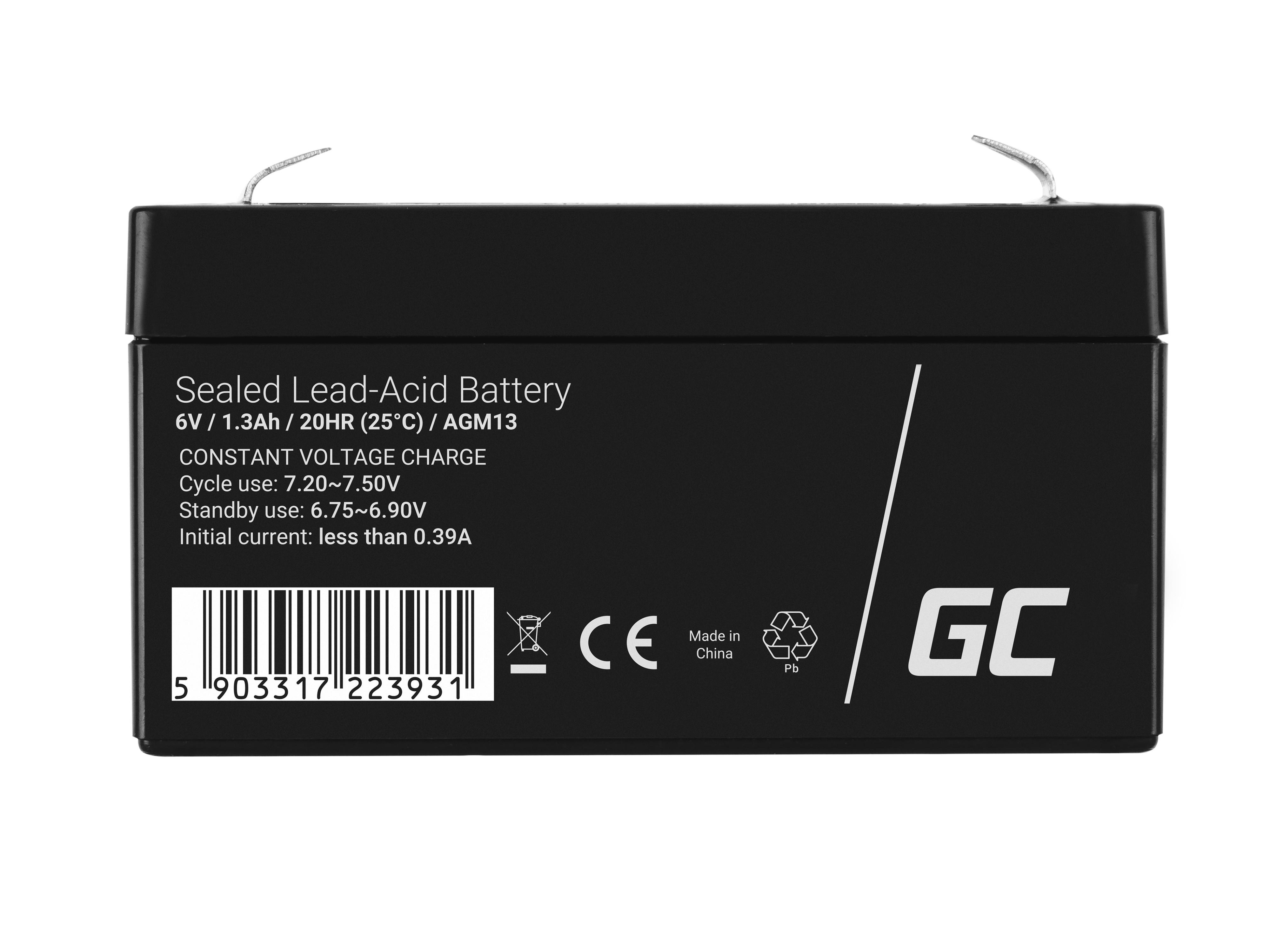 Green Cell Staniční (záložní) Baterie 6V 1.3Ah