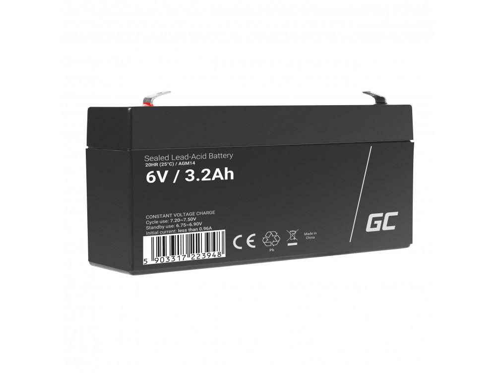 Green Cell AGM akkumulátor 6V 3.3Ah