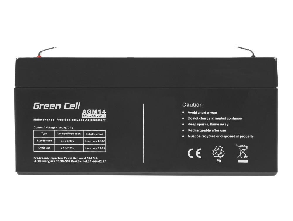 Green Cell Staniční (záložní) Baterie 6V 3.3Ah