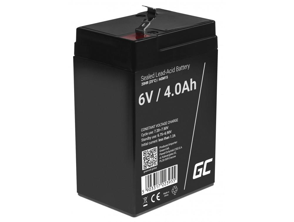 Green Cell AGM akkumulátor 6V 4Ah