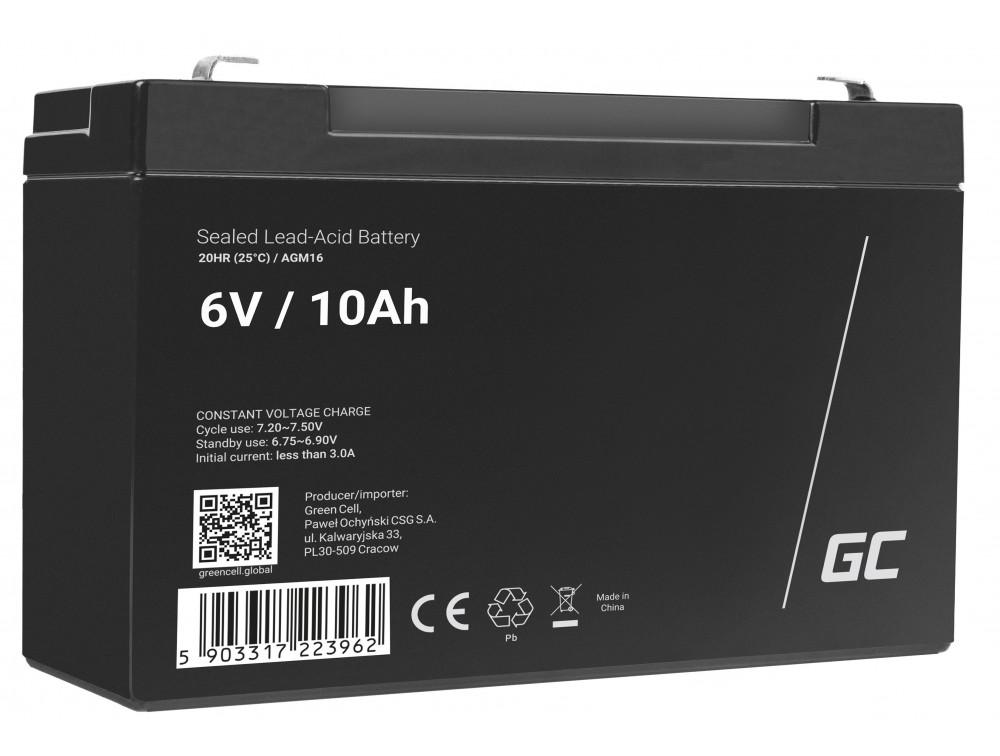 Green Cell AGM akkumulátor 6V 10Ah