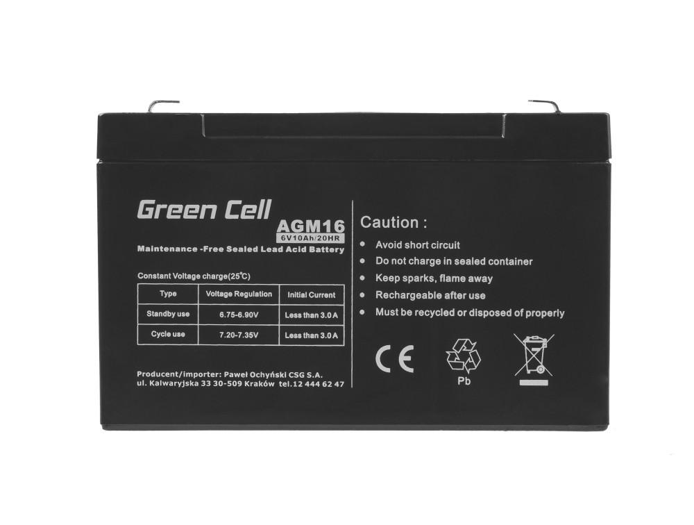 Green Cell Staniční (záložní) Baterie 6V 10Ah