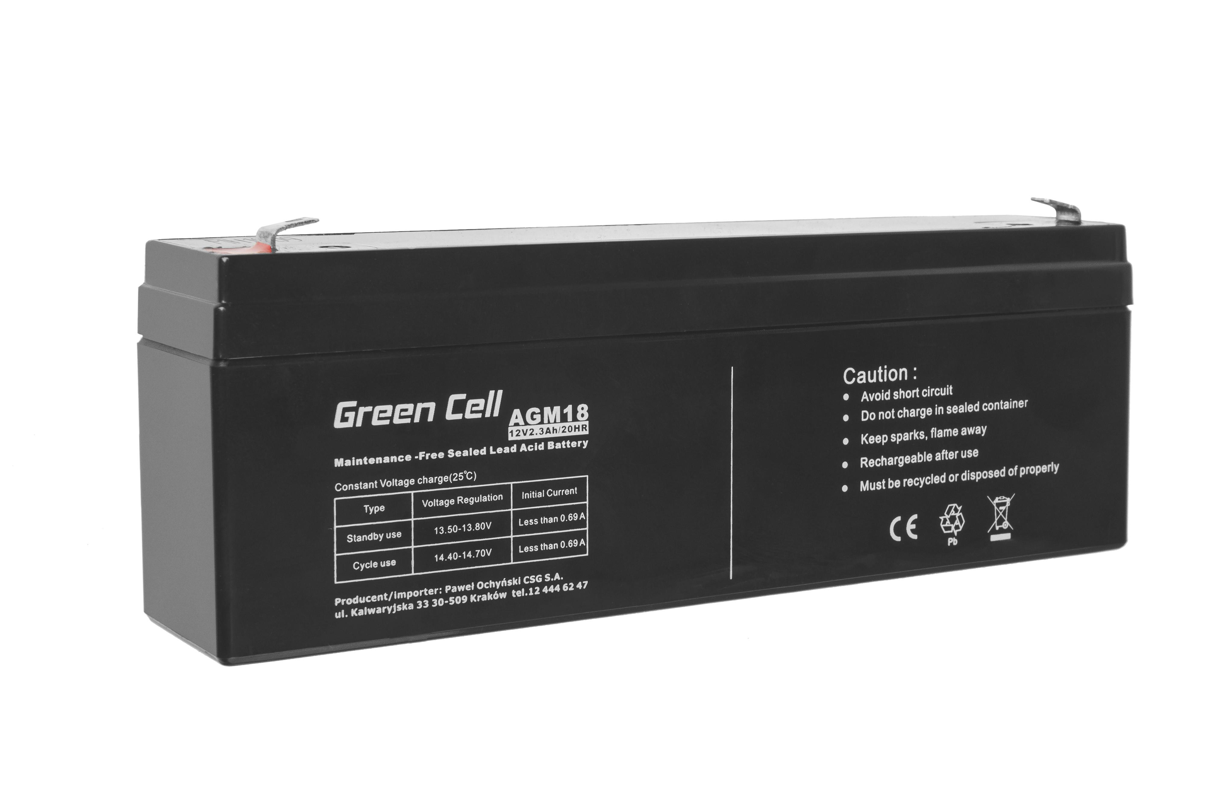 Green Cell AGM Baterie 12V 2.3Ah