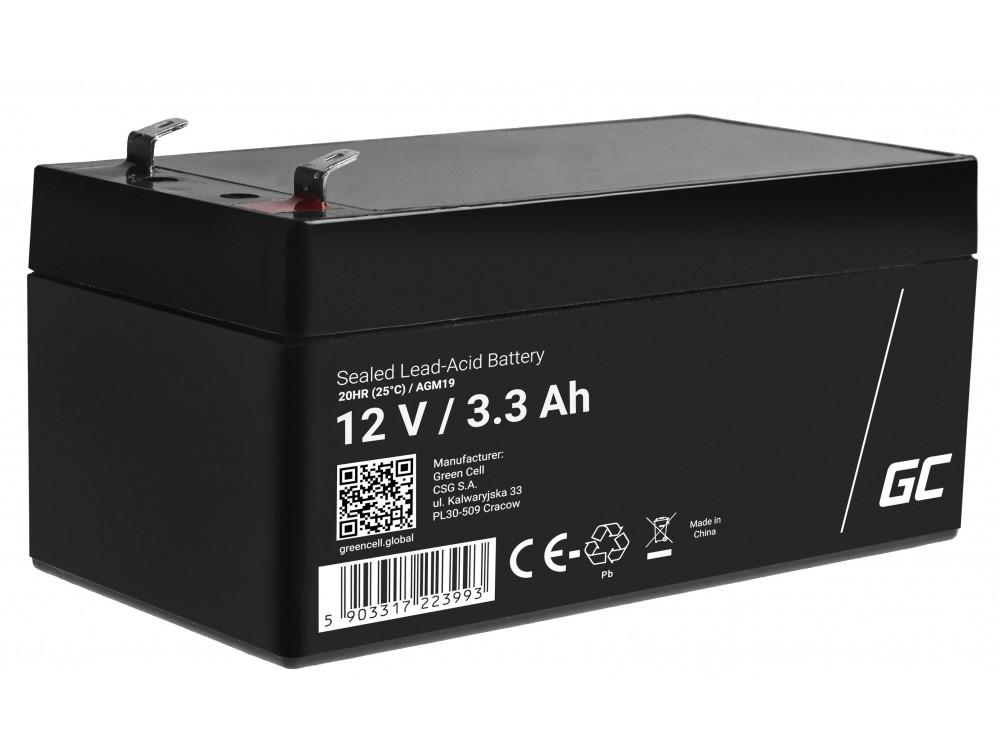 Green Cell AGM akkumulátor 12V 3.3Ah