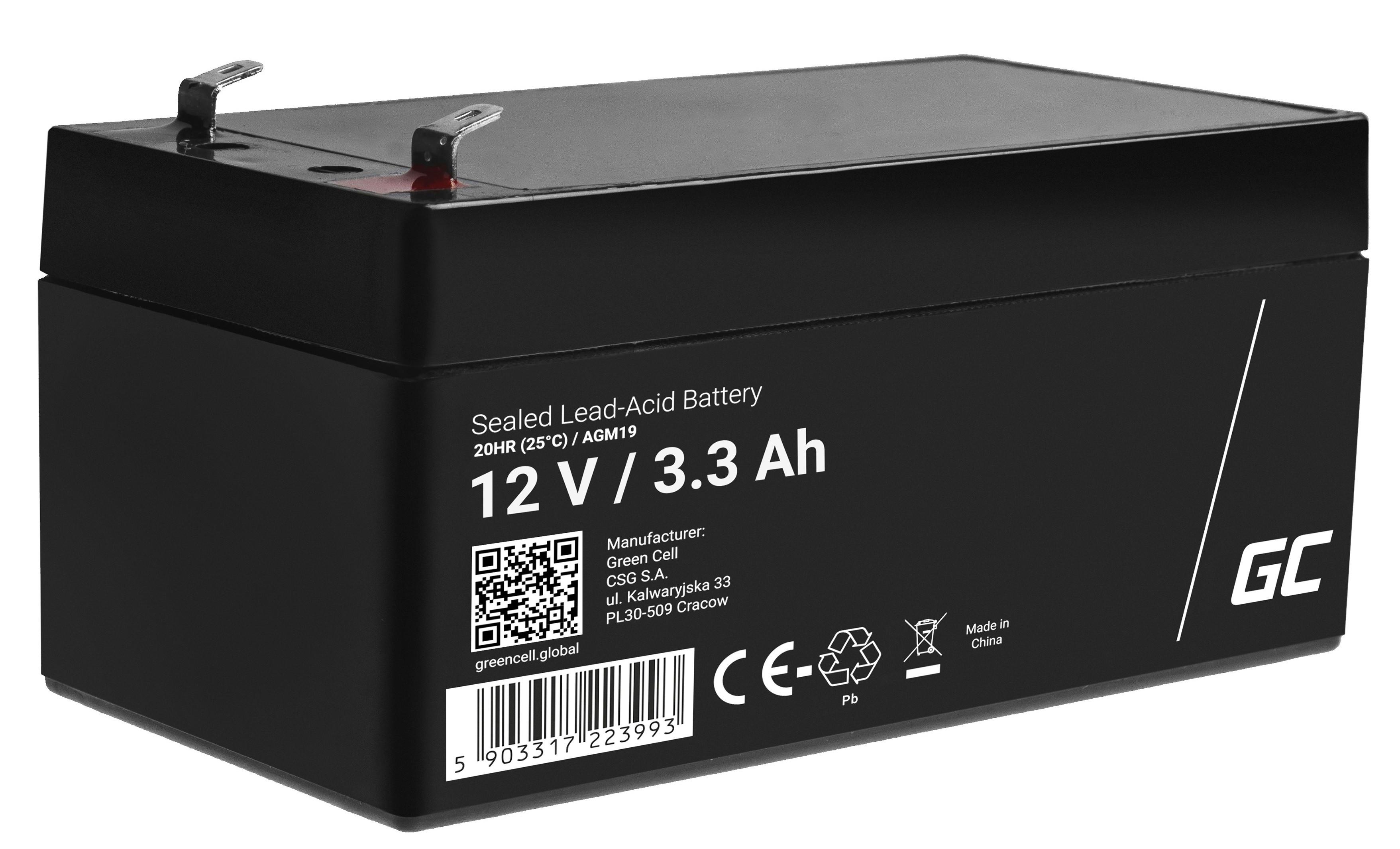 Green Cell AGM Baterie 12V 3.3Ah