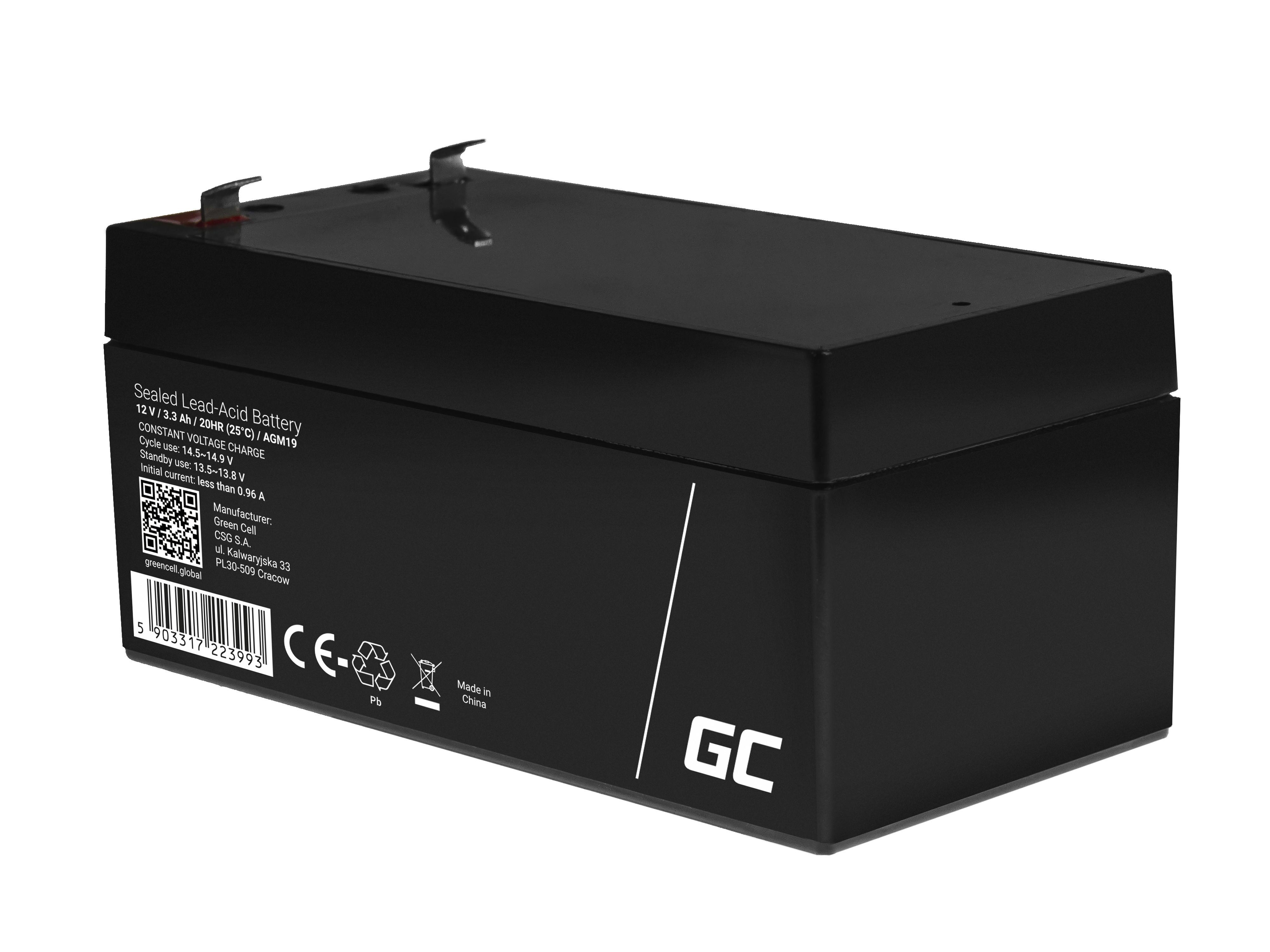 Green Cell Staniční (záložní) Baterie 12V 3.3Ah
