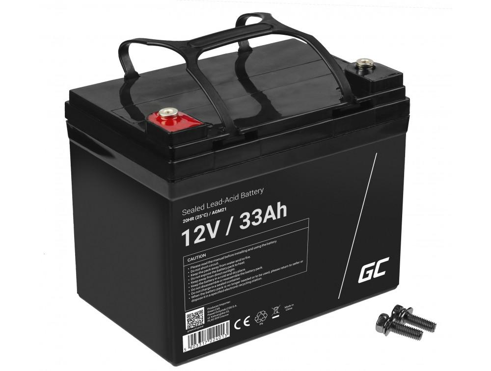 Green Cell AGM akkumulátor 12V 33Ah