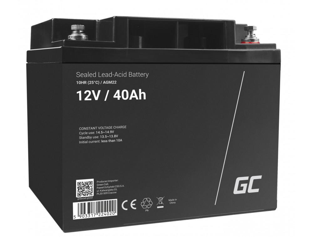 Green Cell AGM akkumulátor 12V 40Ah