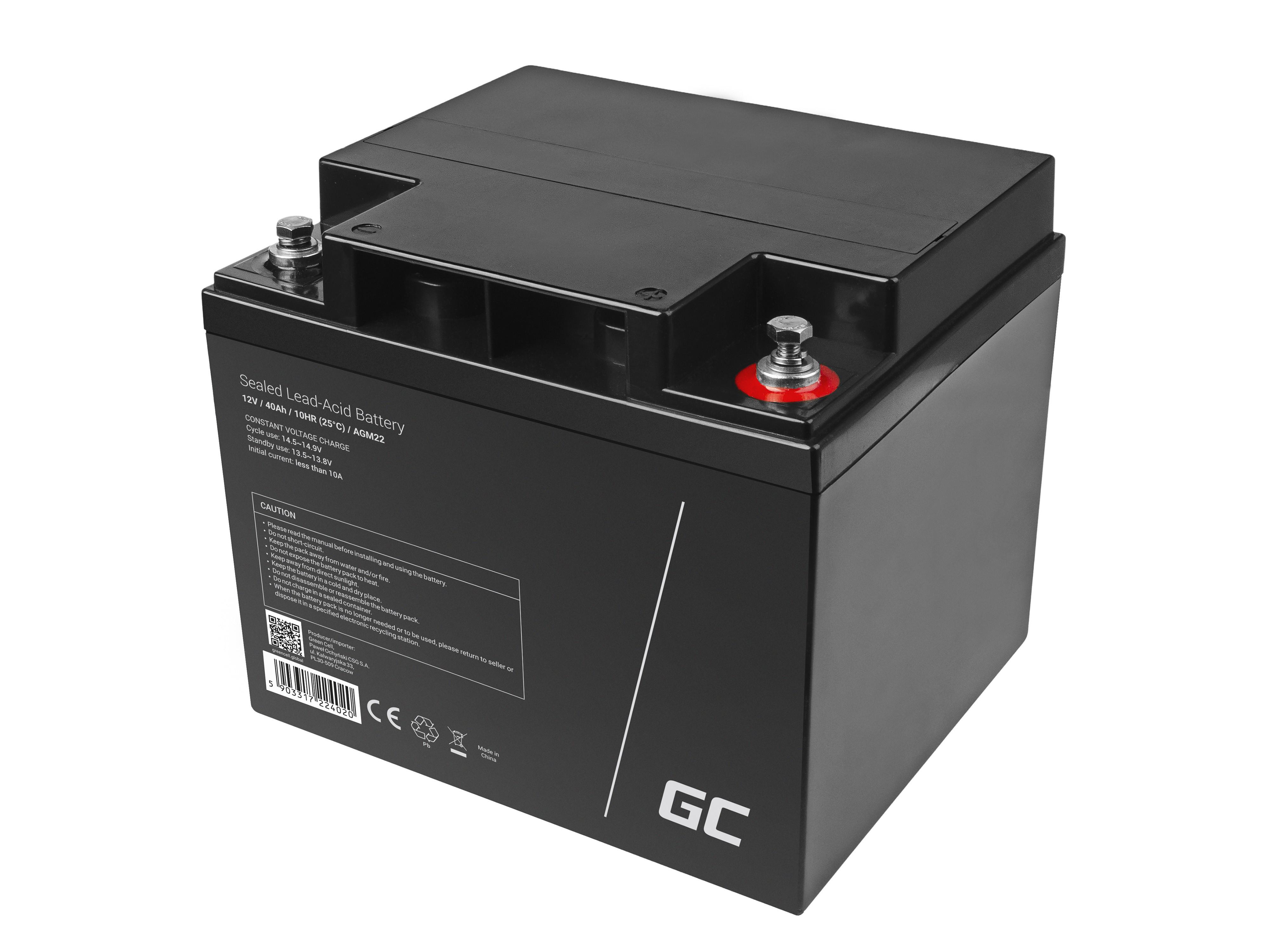 Green Cell Staniční (záložní) Baterie 12V 40Ah