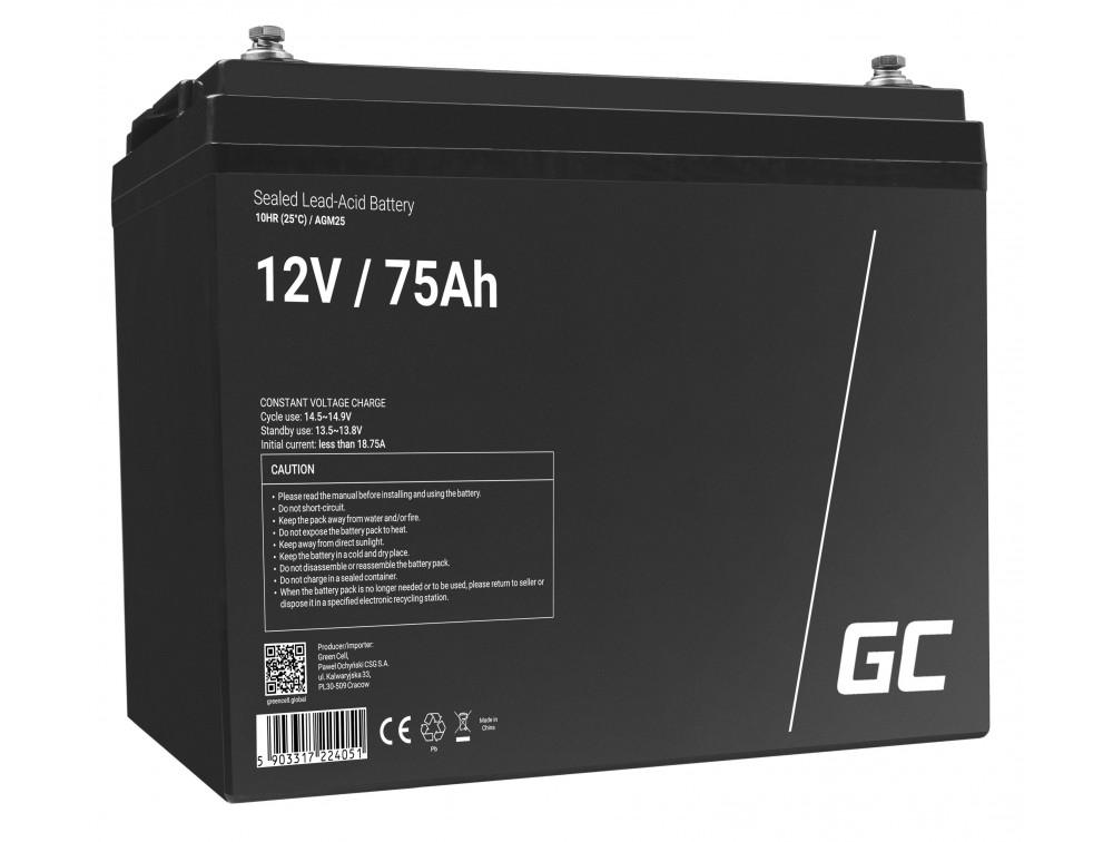 Green Cell AGM akkumulátor 12V 75Ah