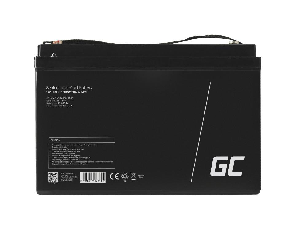 Green Cell AGM Battery 12V 90Ah