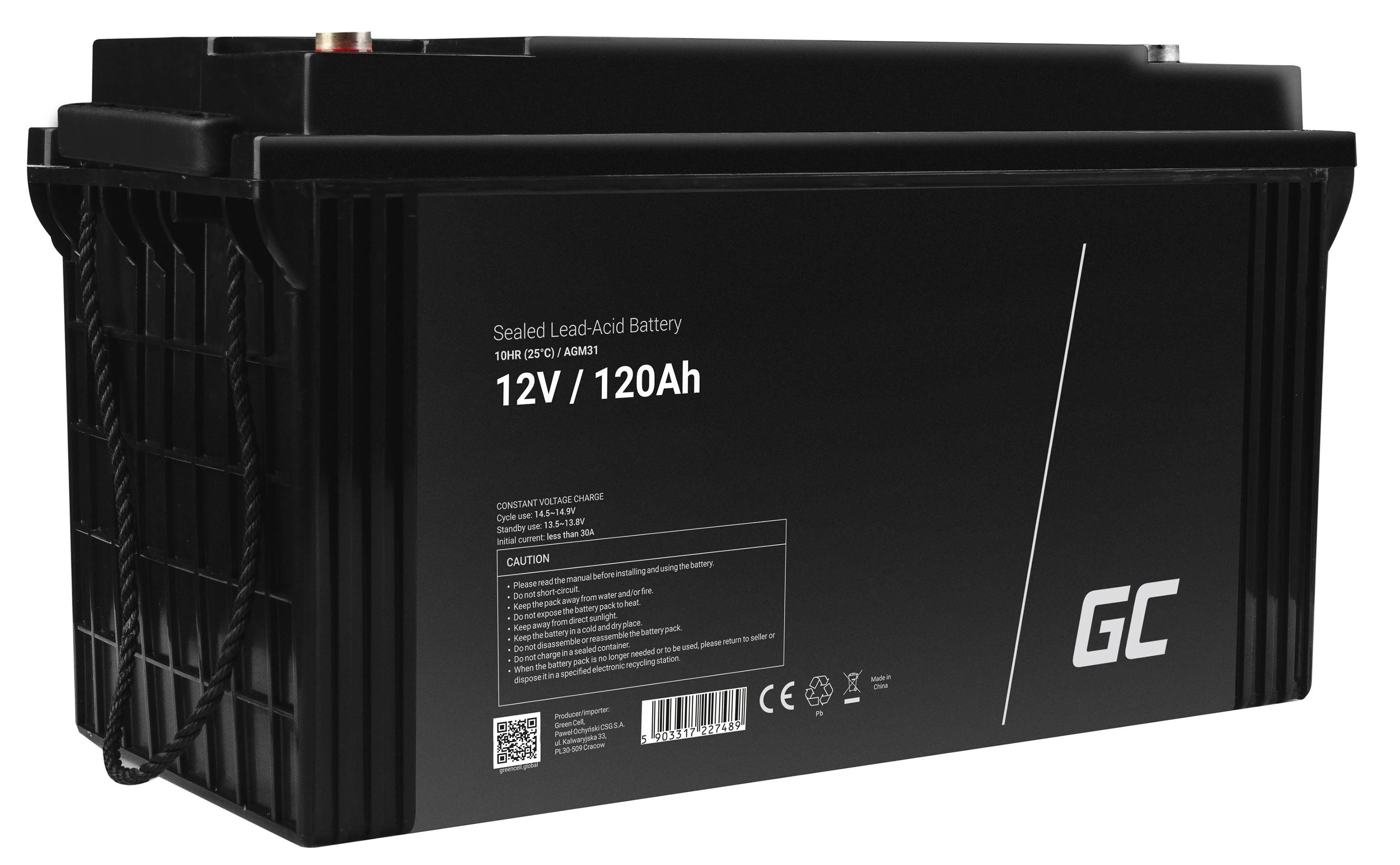 Green Cell AGM Battery 12V 120Ah