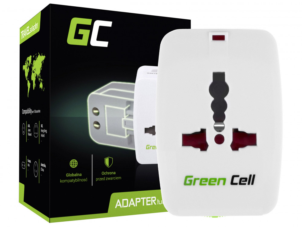 Green Cell Universal Adapter elektromos aljzathoz